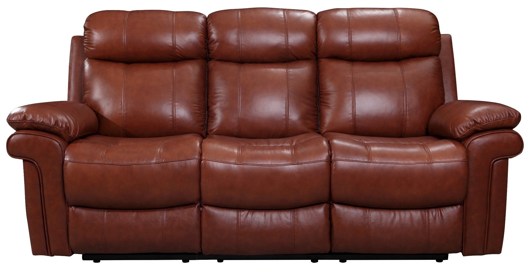 Joplin saddle leather power reclining sofa 1555 e2117 for Affordable furniture 3 piece sectional in wyoming saddle