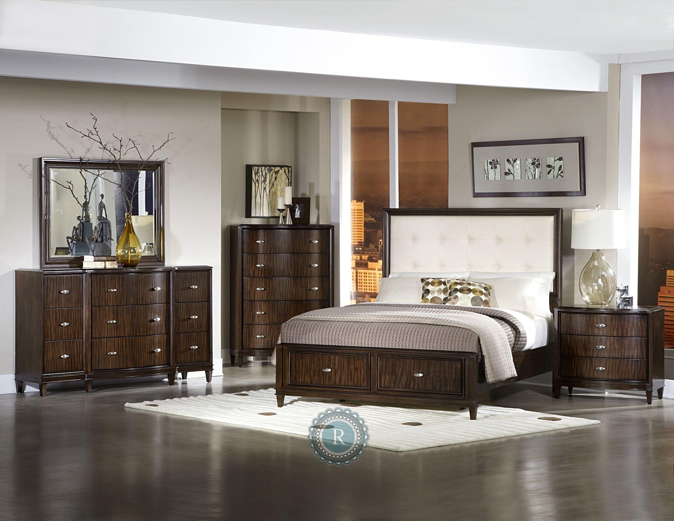abramo white bonded leather storage platform bedroom set from