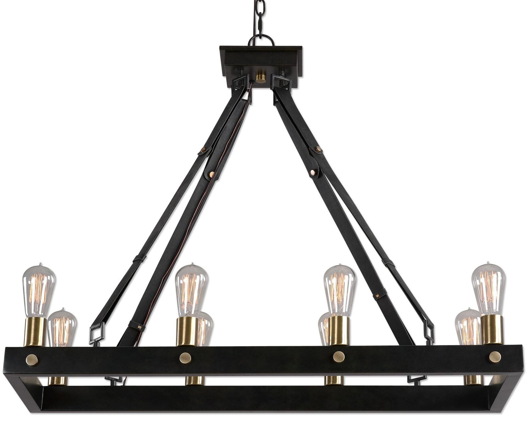 Marlow Eight Light Rectangle Chandelier From Uttermost Nine Coleman Furniture