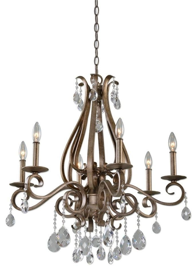 Siobhan 6 Light Crystal Chandelier 21289 Uttermost