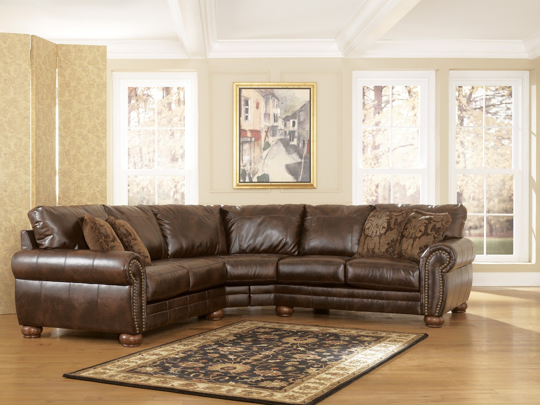DuraBlend Antique Sectional From Ashley 21300 55 56
