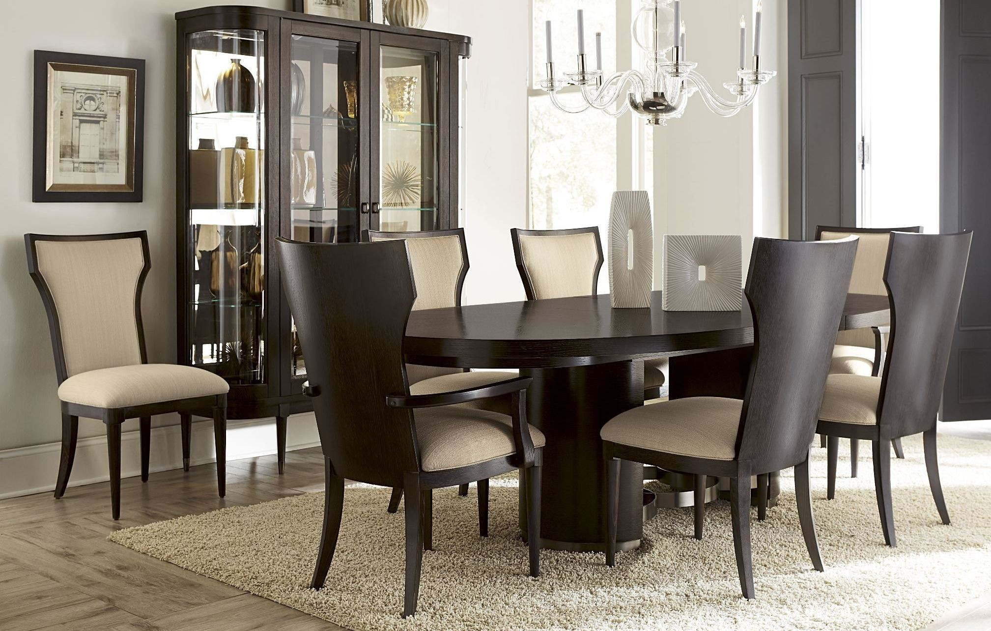 greenpoint oval dining room set from art 214223 2304 coleman