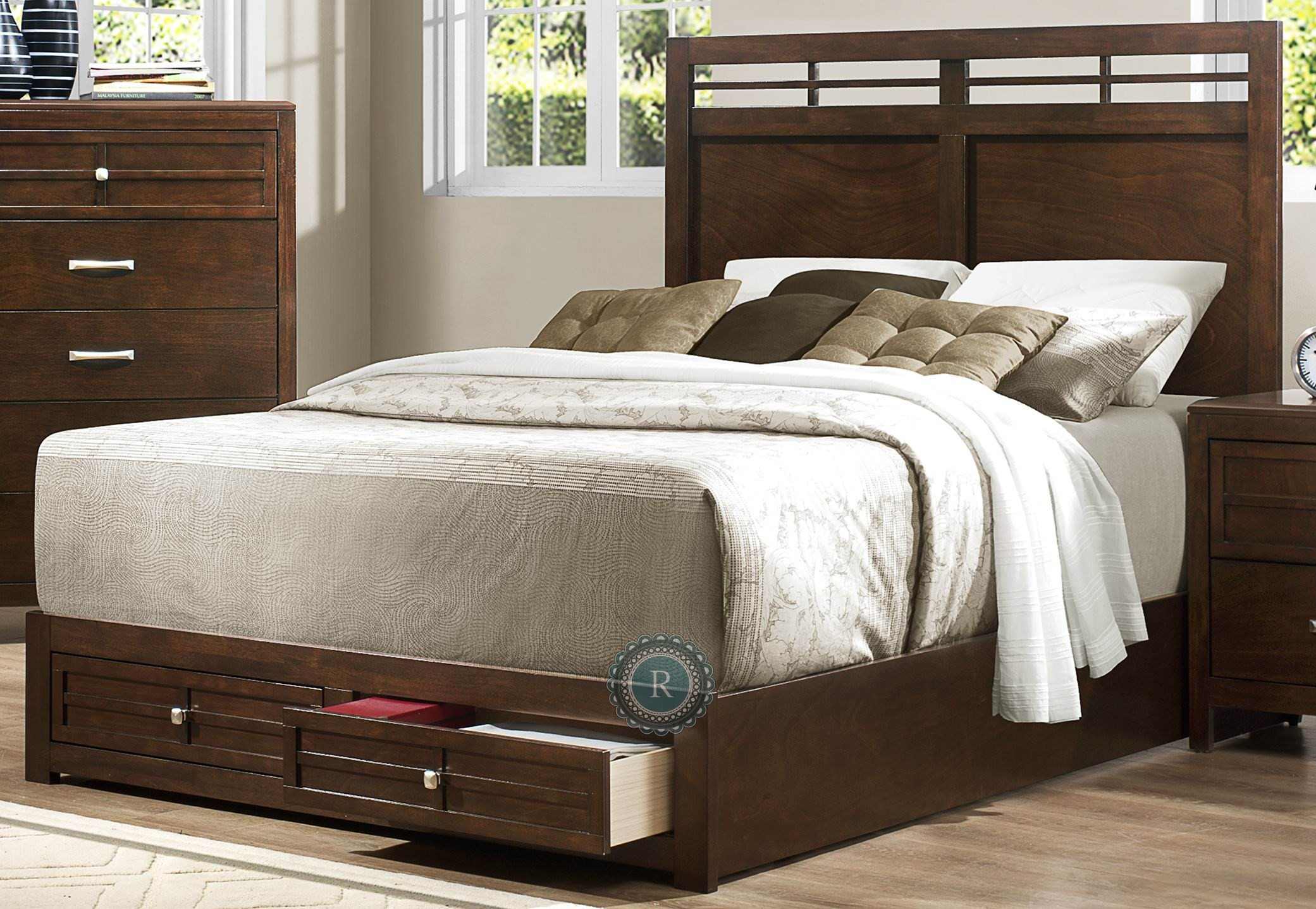 greenfield cal king storage bed from homelegance 2158k