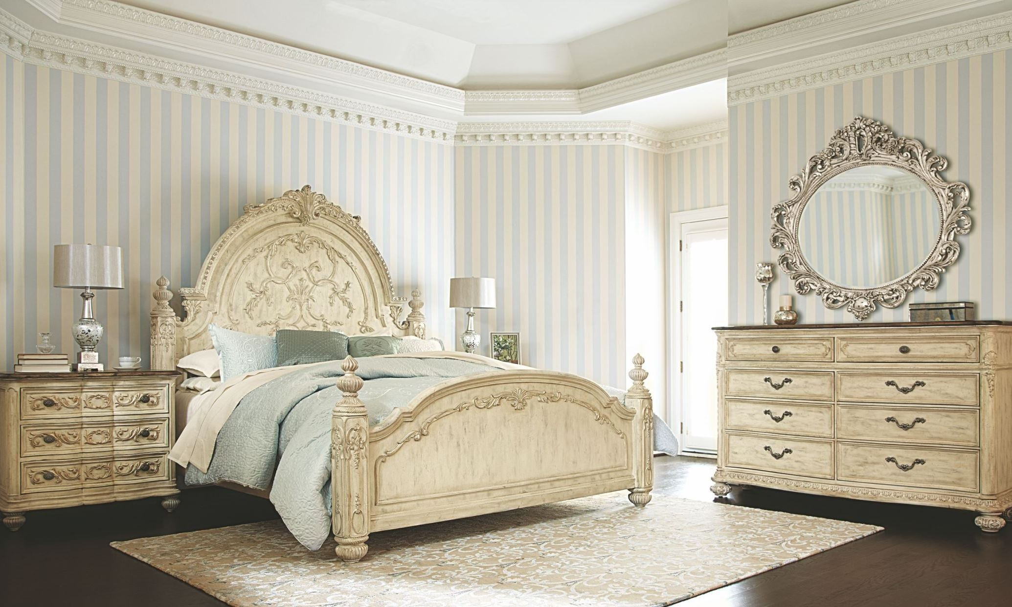 jessica mcclintock boutique white veil mansion bedroom set from