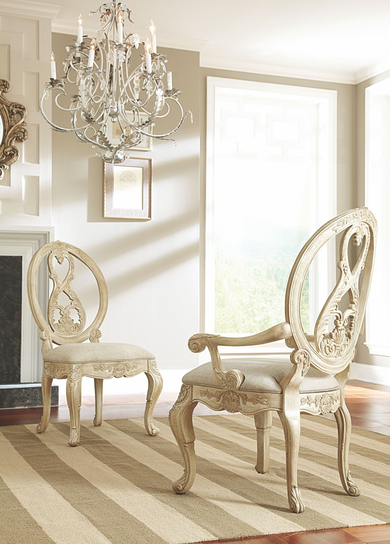 Jessica Mcclintock Boutique White Veil Side Chair From