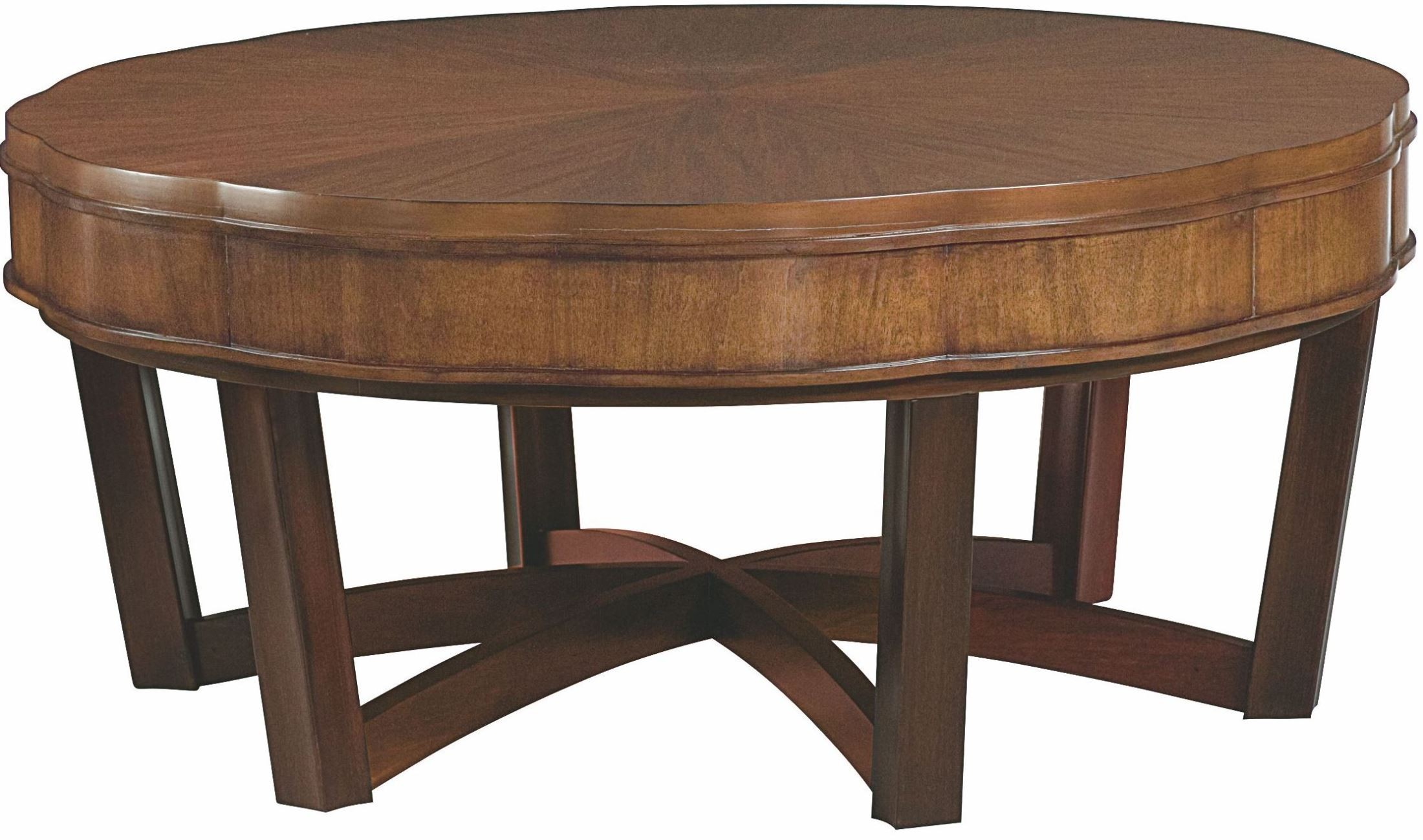 Miramar smoky brown round cocktail table from hammary 218 for Cocktail 911