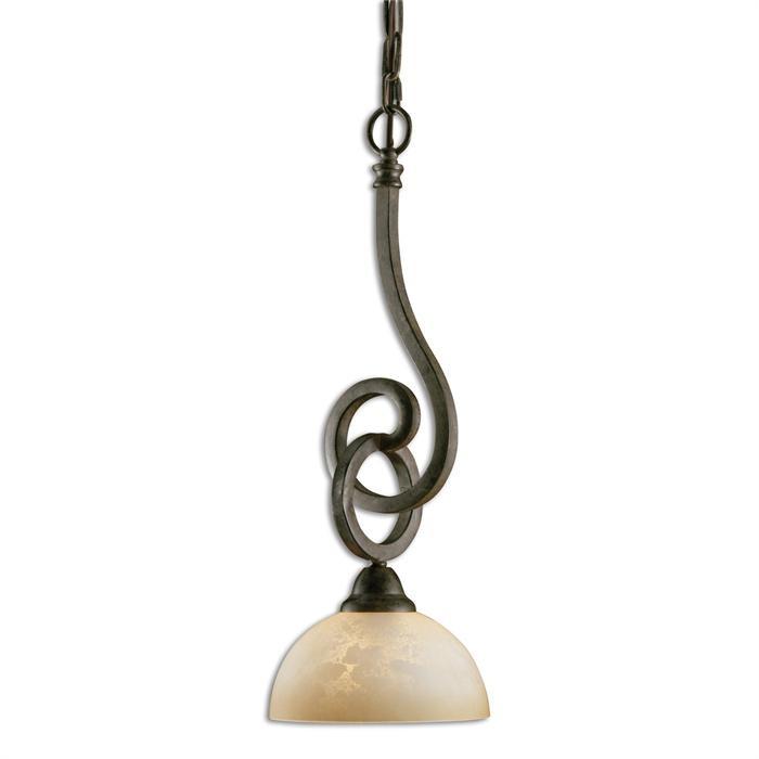 legato scavo glass mini pendant from uttermost 21828
