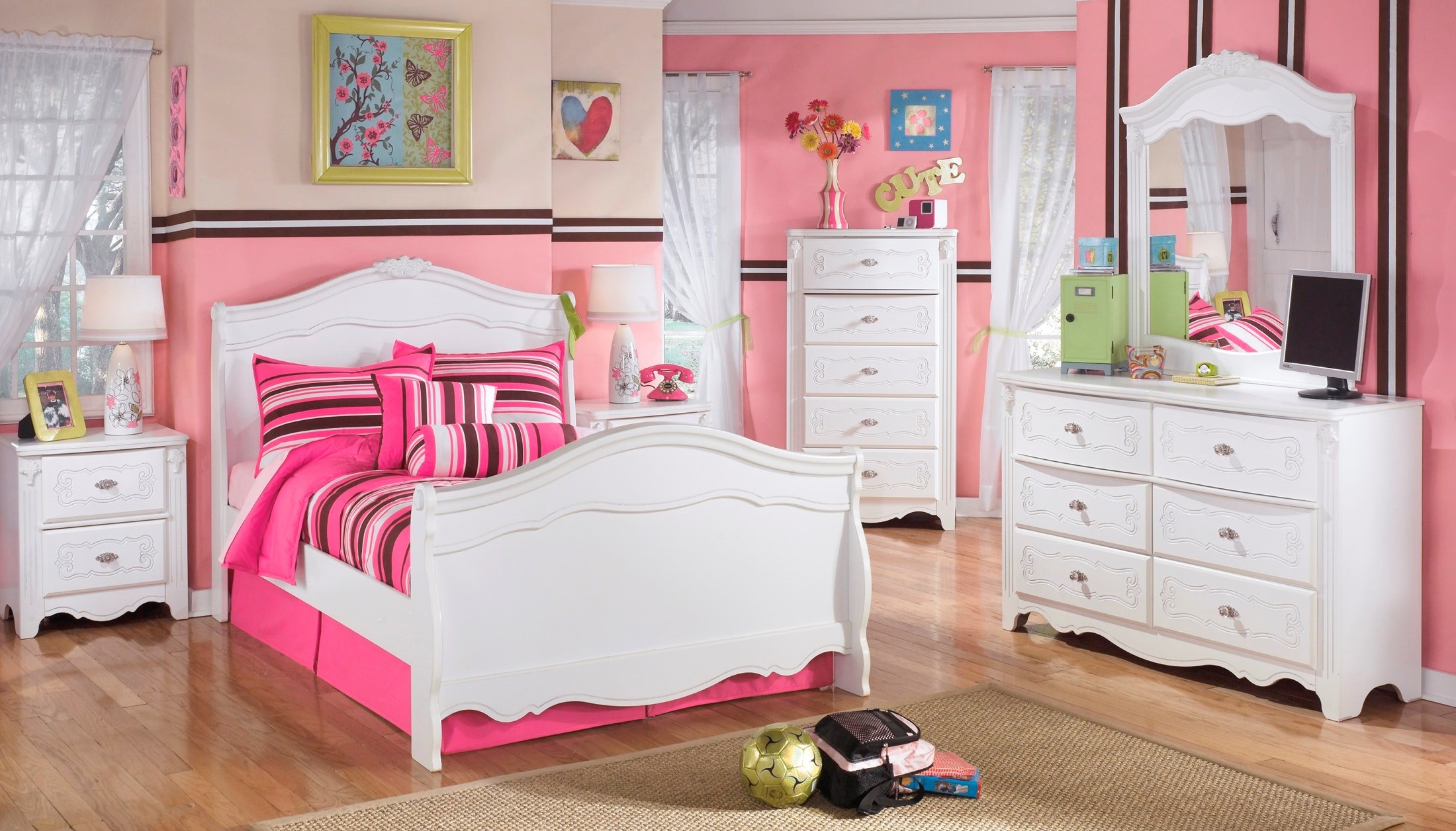 exquisite youth sleigh bedroom set from ashley b188 62n 63n 82n