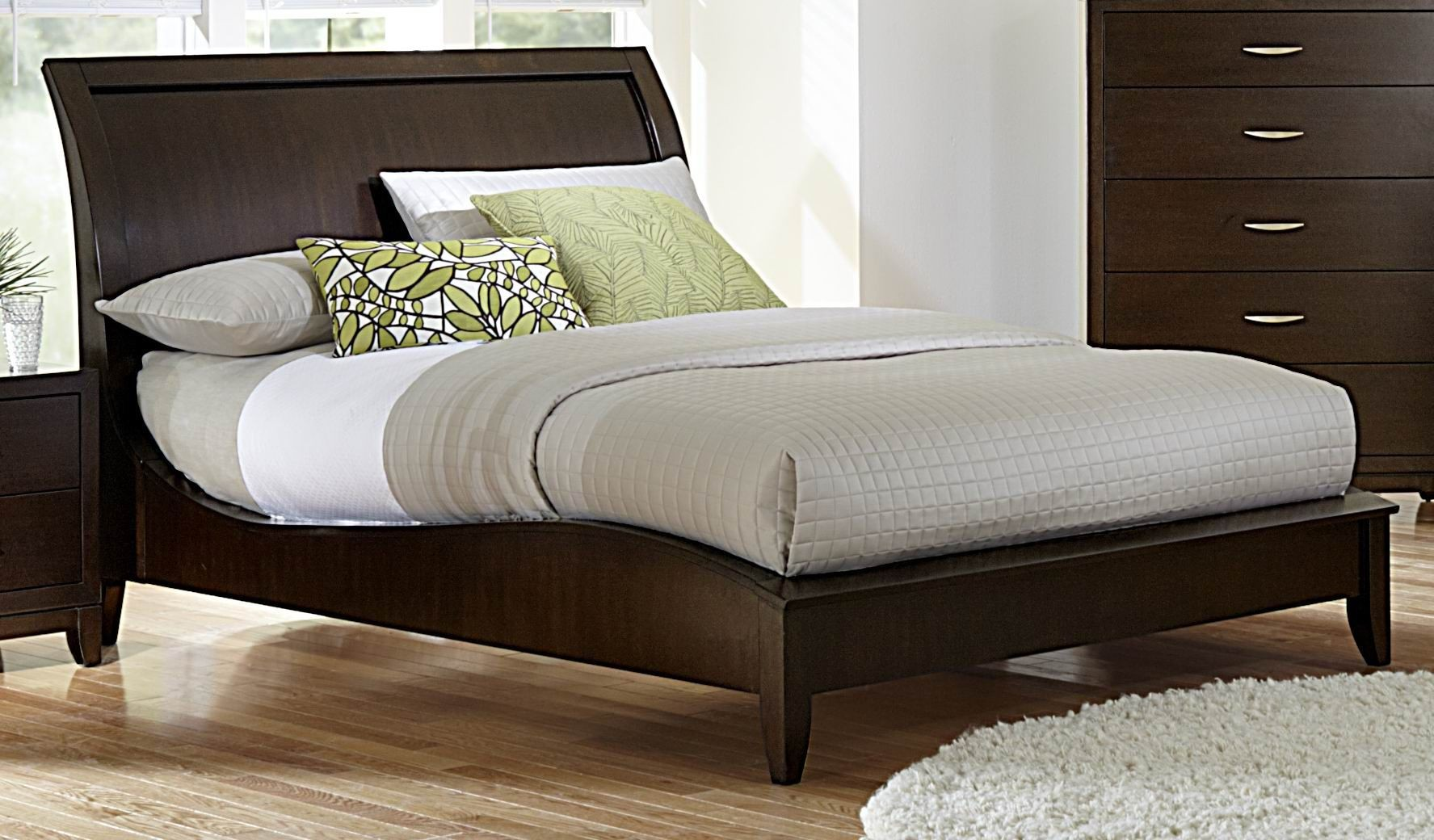Starling Queen Sleigh Bed 2217 1 Homelegance