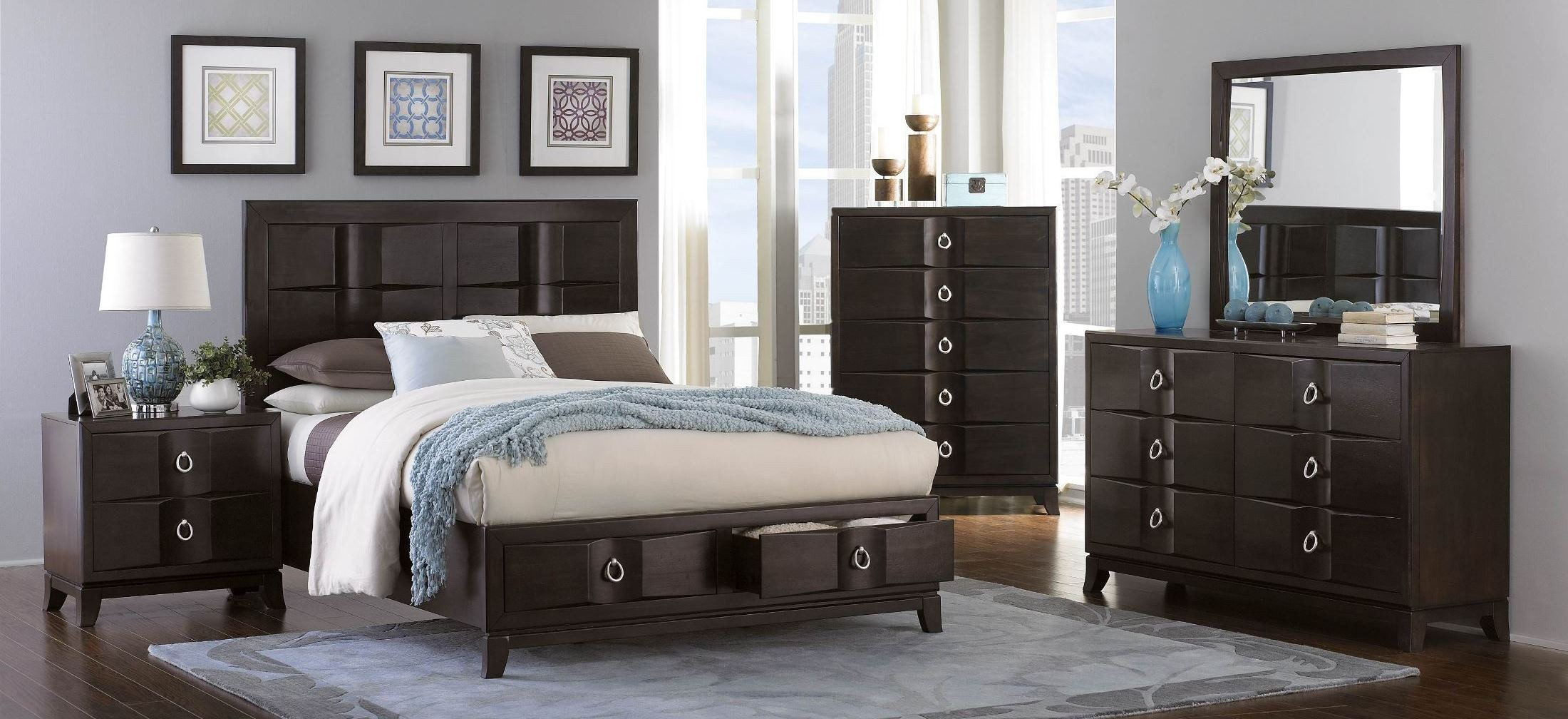 Edmonston Platform Storage Bedroom Set From Homelegance