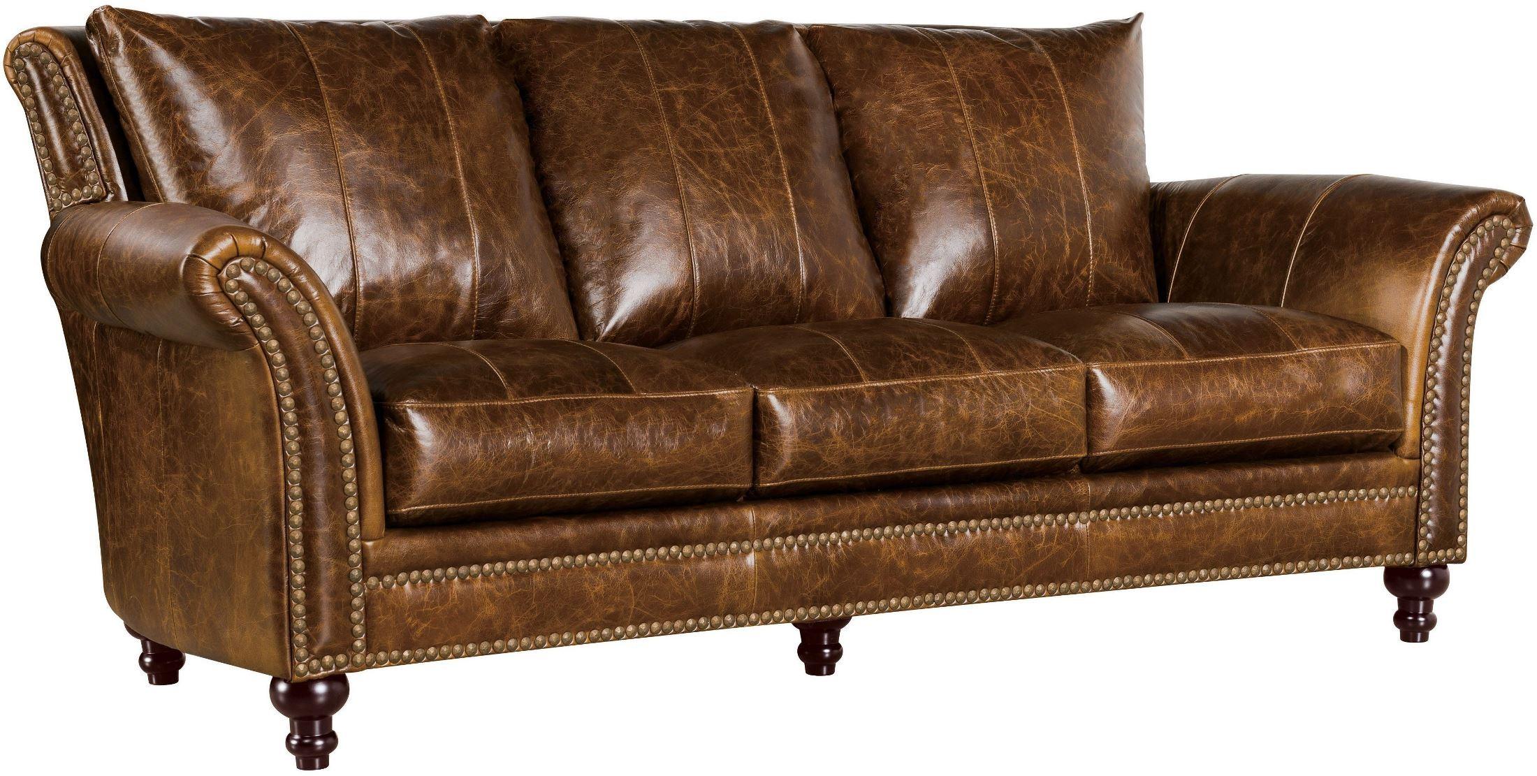 Georgetowne Butler Brown Leather Sofa 1669 2239 035507 Leather Italia