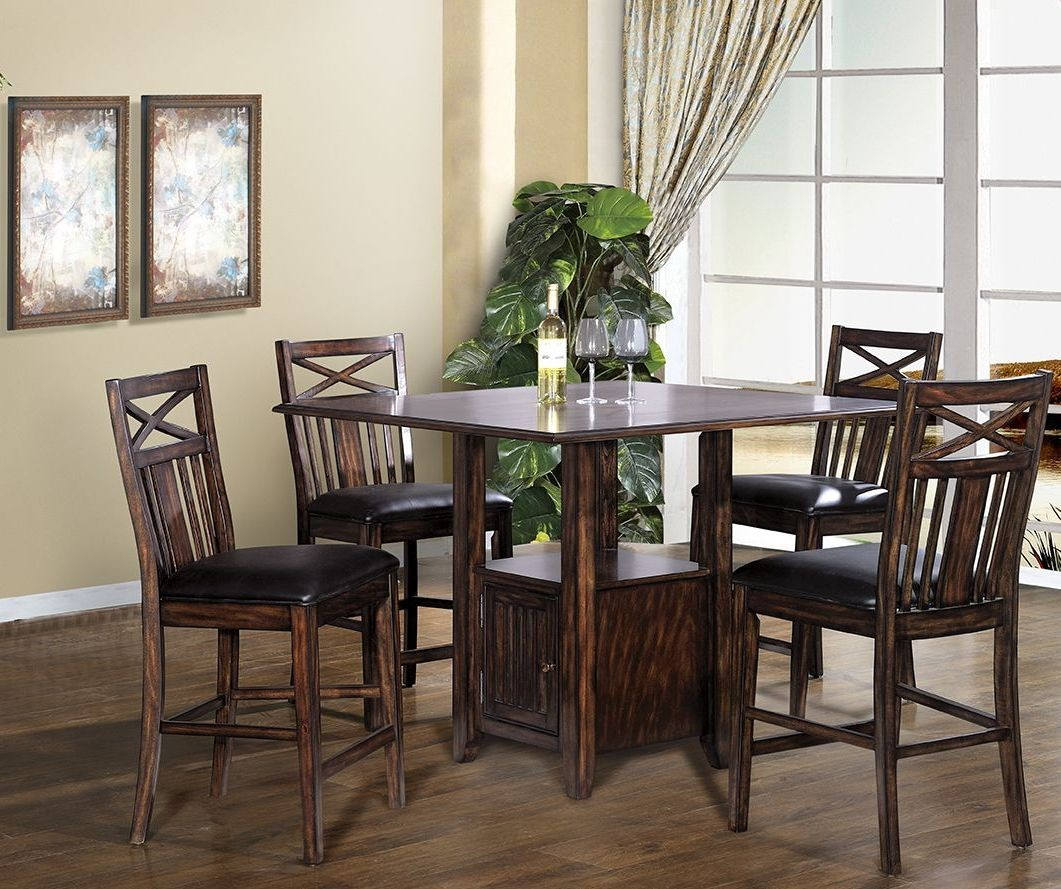 augusta distressed cherry counter height dining room set 2240 00 pt