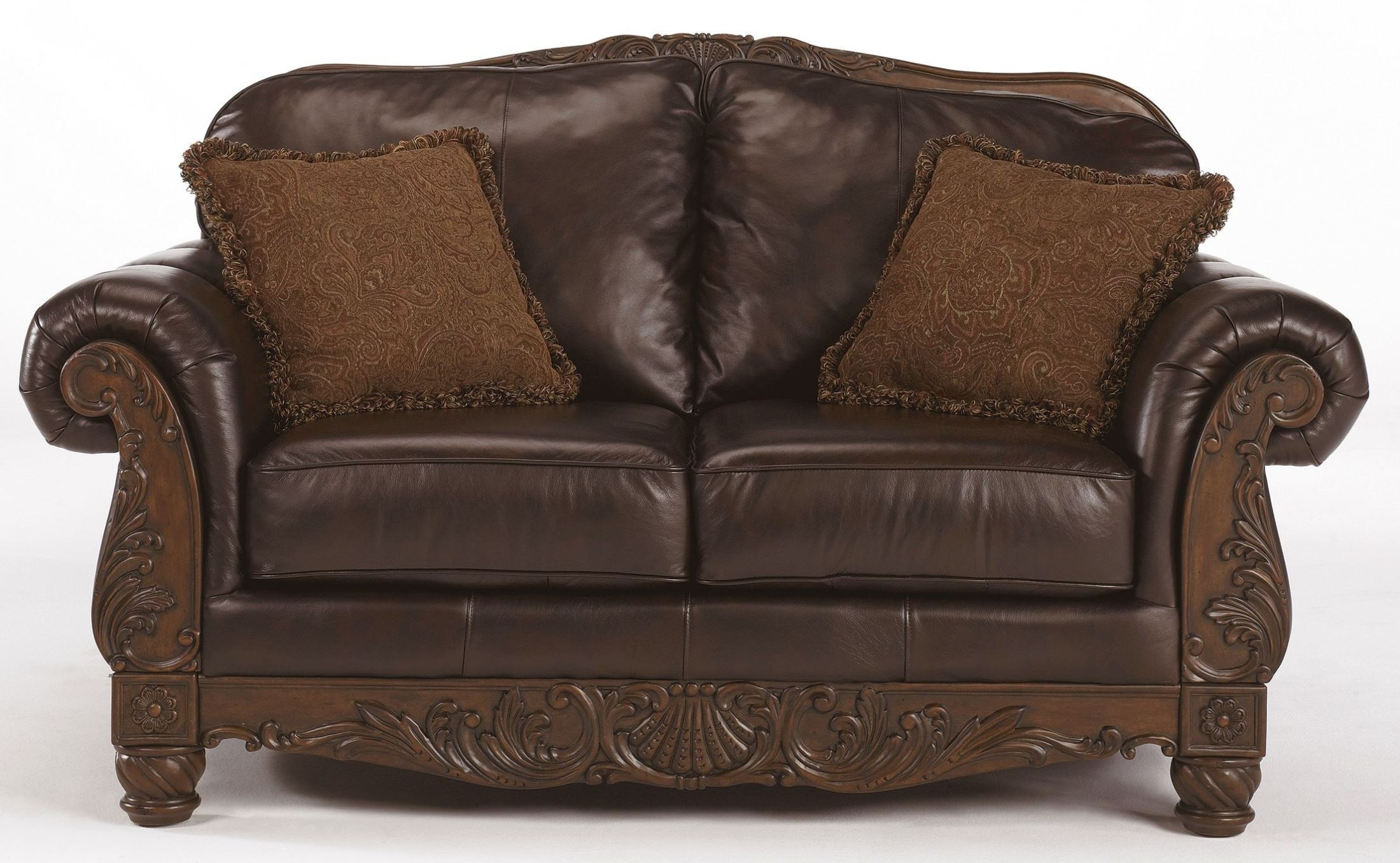 north shore dark brown living room set from ashley 22603 coleman