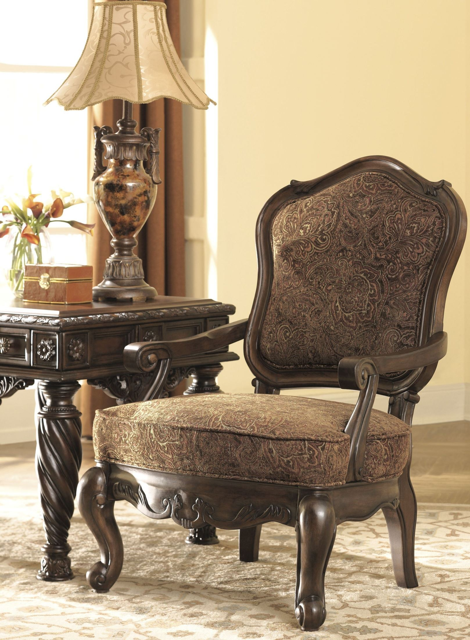 North Shore Dark Brown Showood Accent Chair From Ashley
