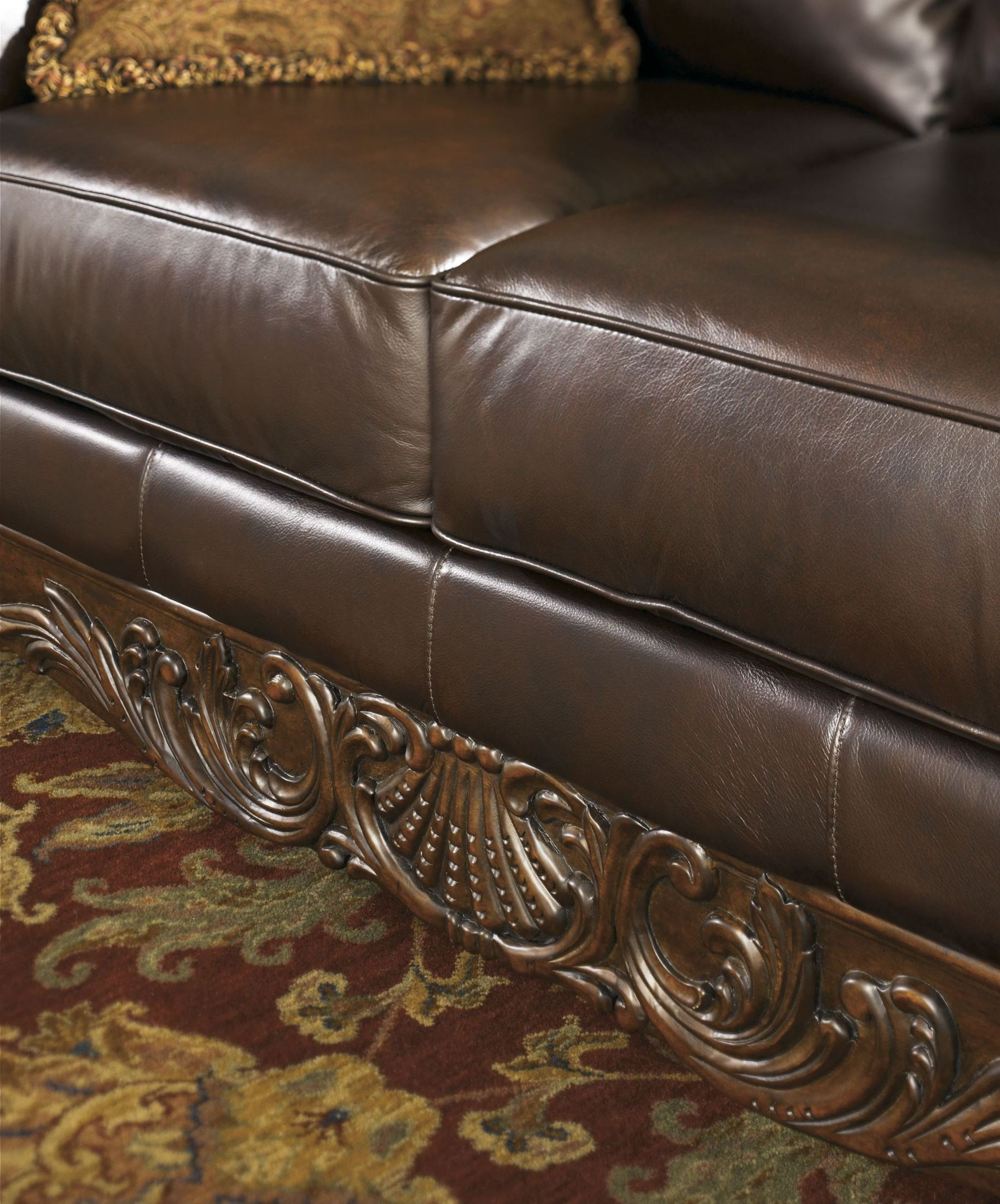North shore dark brown laf corner chaise from ashley for Ashley furniture north shore chaise