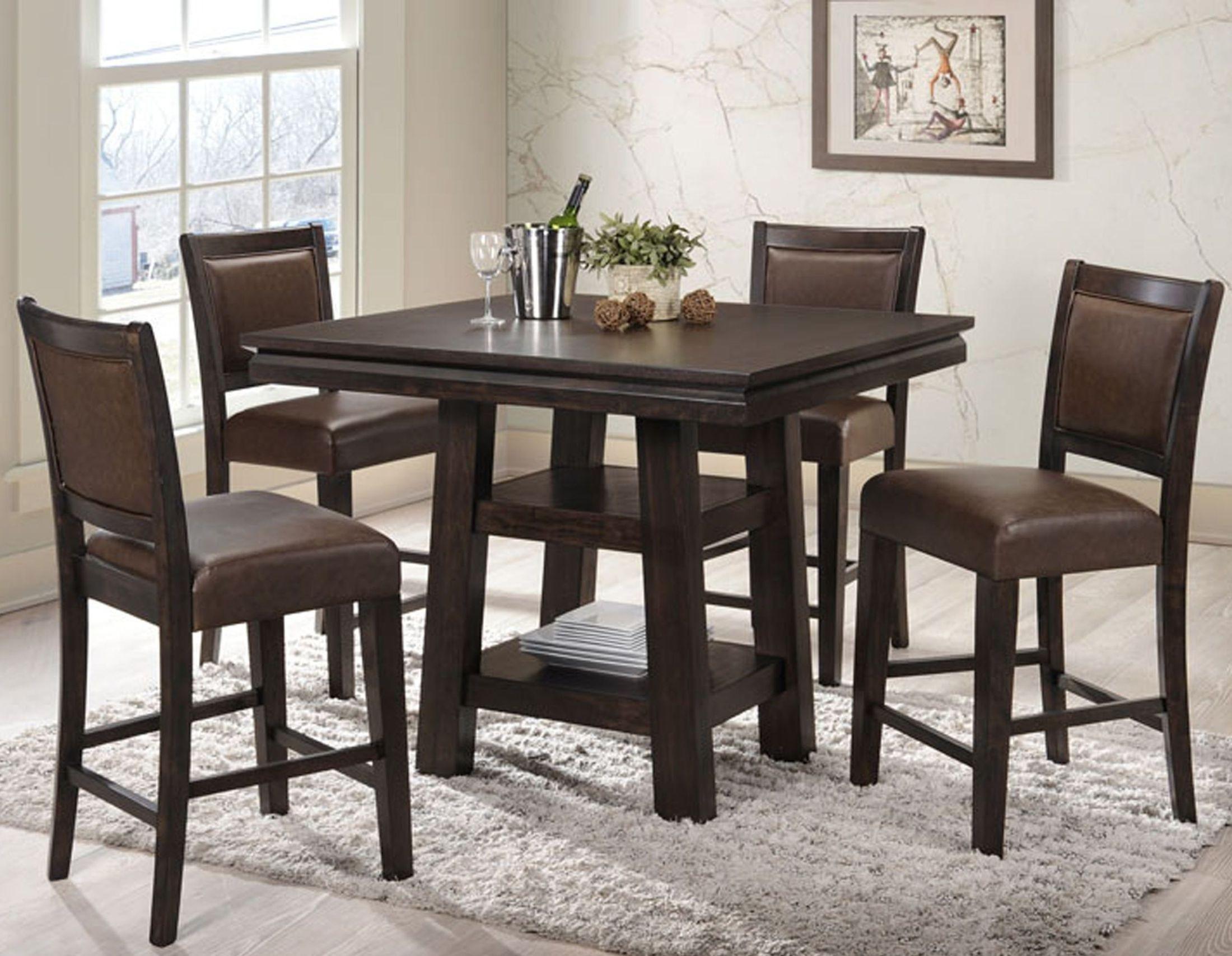 montego bay black oak counter height dining room set 2280 50 pt pb eci furniture. Black Bedroom Furniture Sets. Home Design Ideas