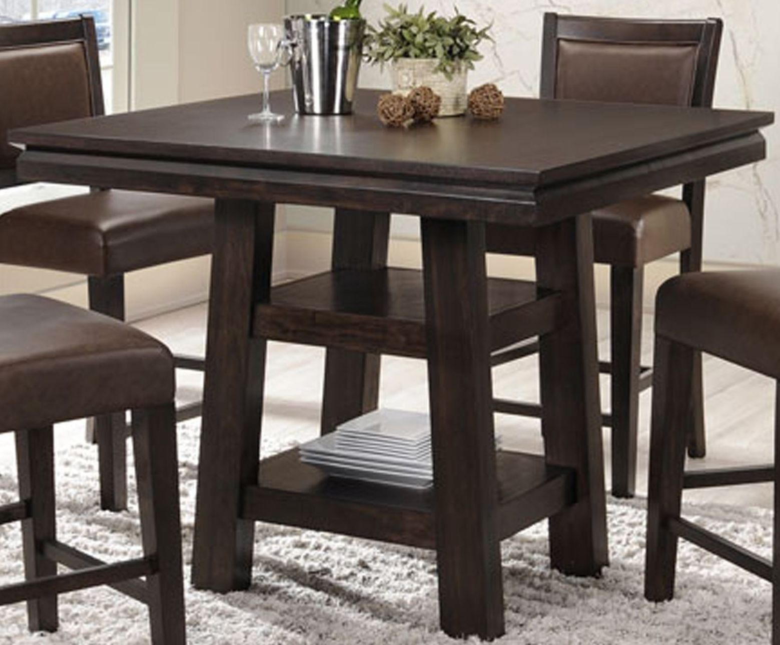 Montego Bay Black Oak Counter Height Dining Table 2280 50 PT PB ECI Furniture