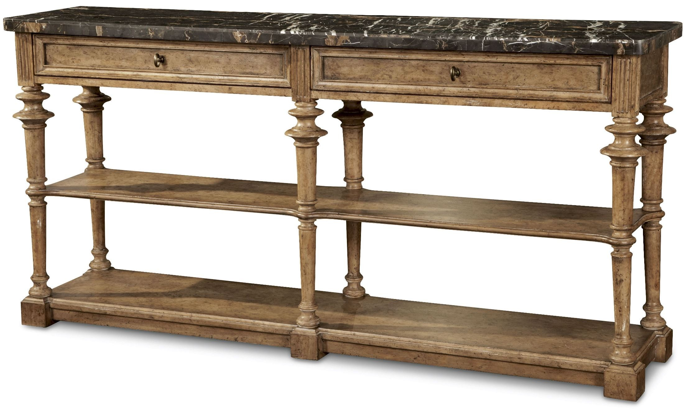 Pavilion Rustic Pine 2 Drawer Console Table From ART