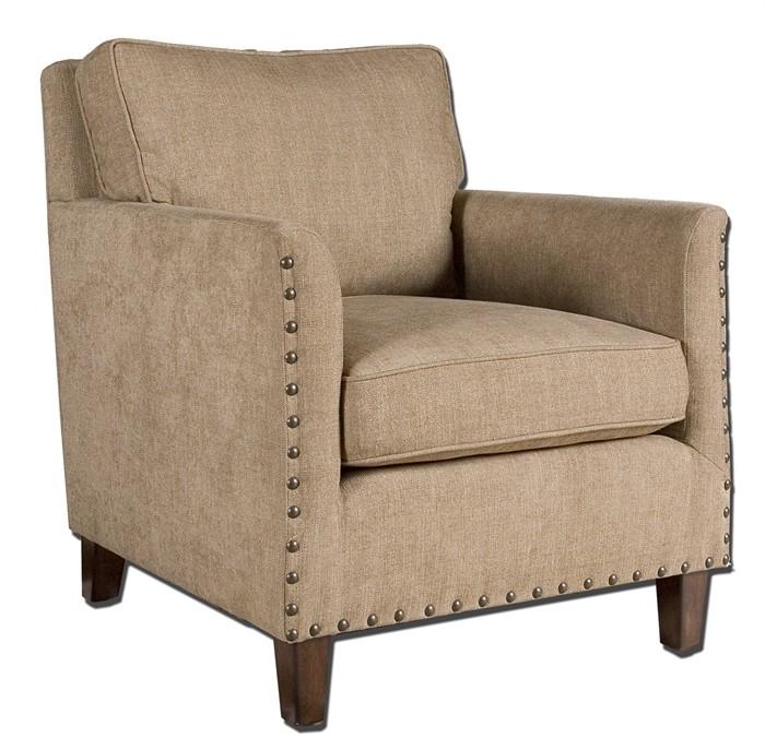 Chenille Armchair: Keturah Chenille Armchair From Uttermost (23066)
