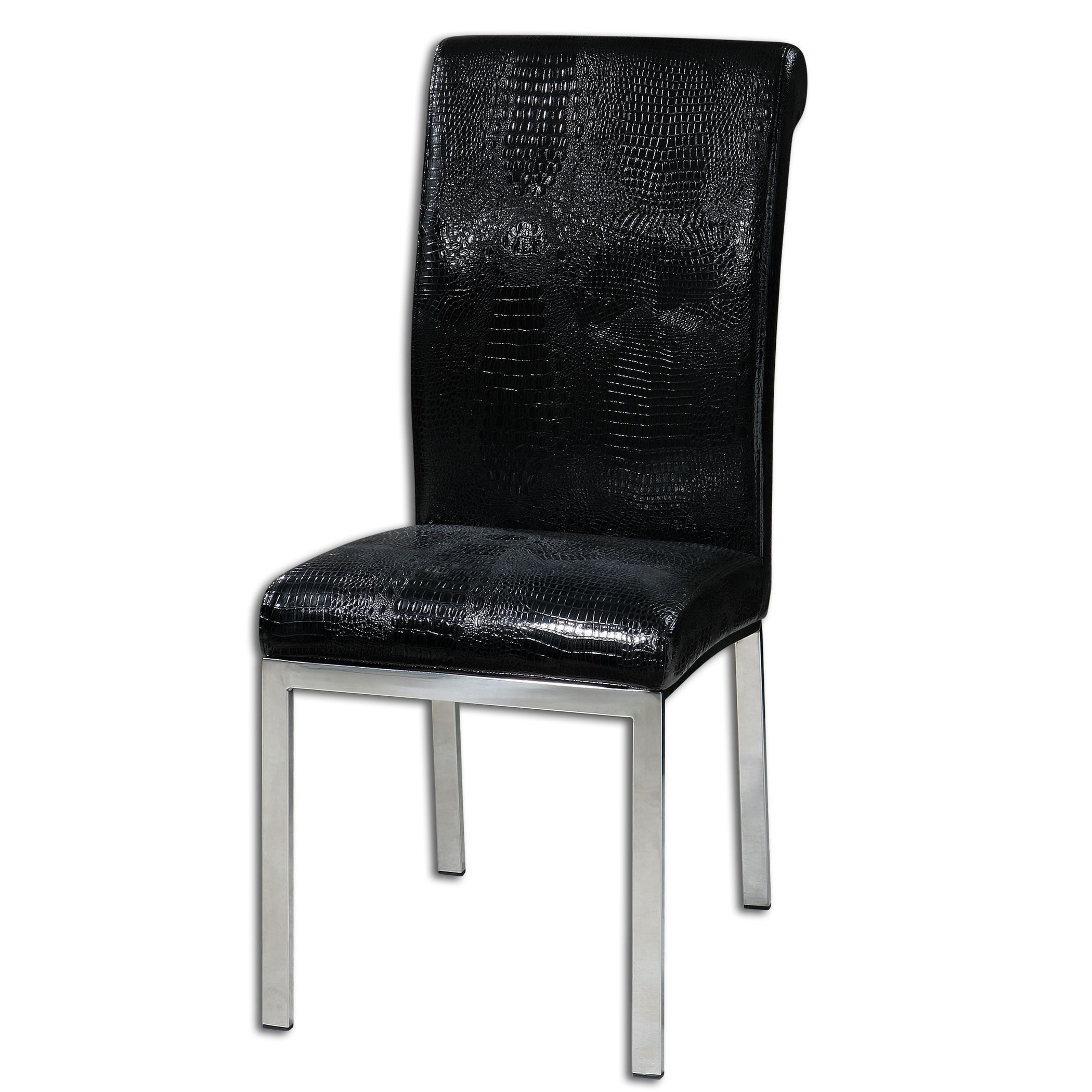 Zaidee Black Accent Chair 23140 Uttermost