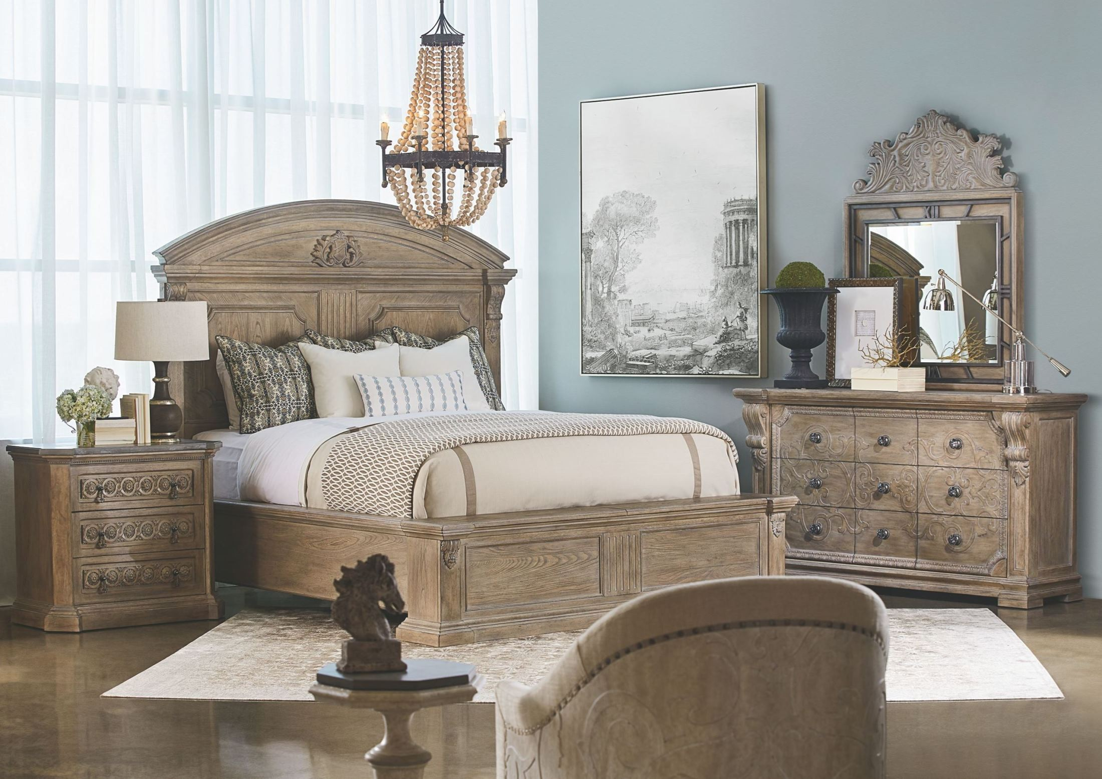 Arch Salvage Parchment Chambers Panel Bedroom Set 233155 2802 A R T