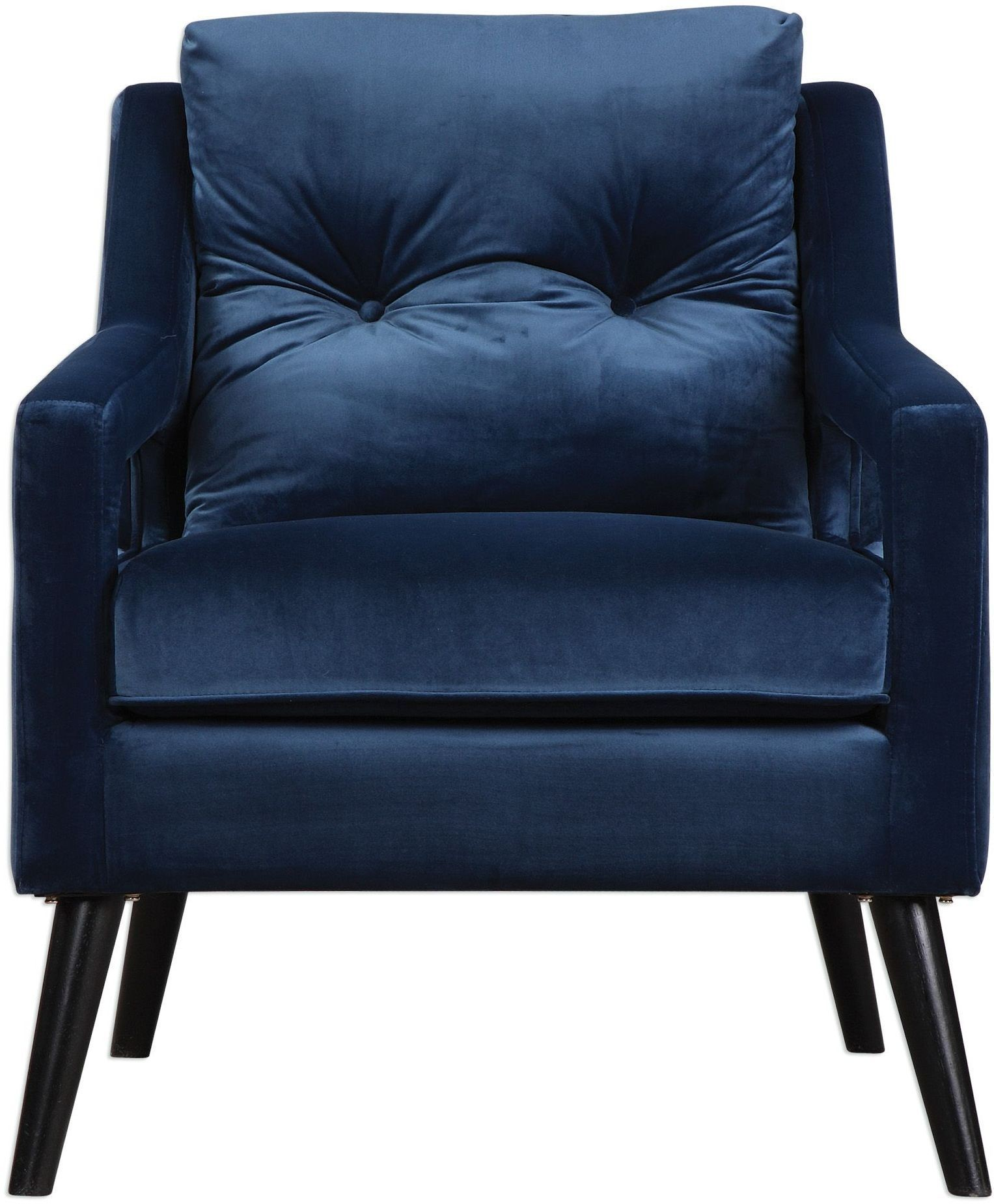 Blue leather club chair mrcny634813 hayley green leather for Small blue armchair