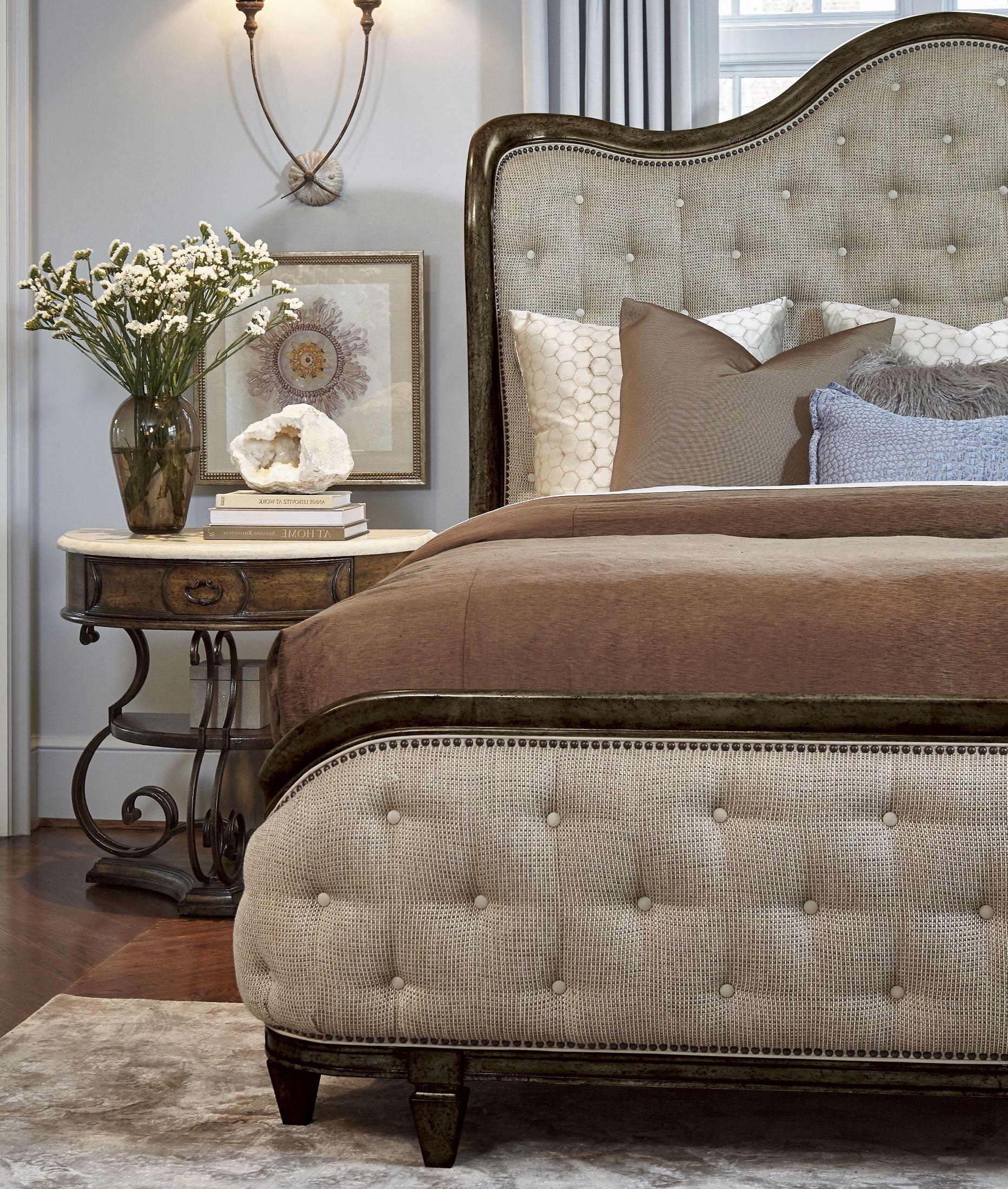 Continental Vintage Melang Upholstered Shelter Bedroom Set 237125 2615 A R T