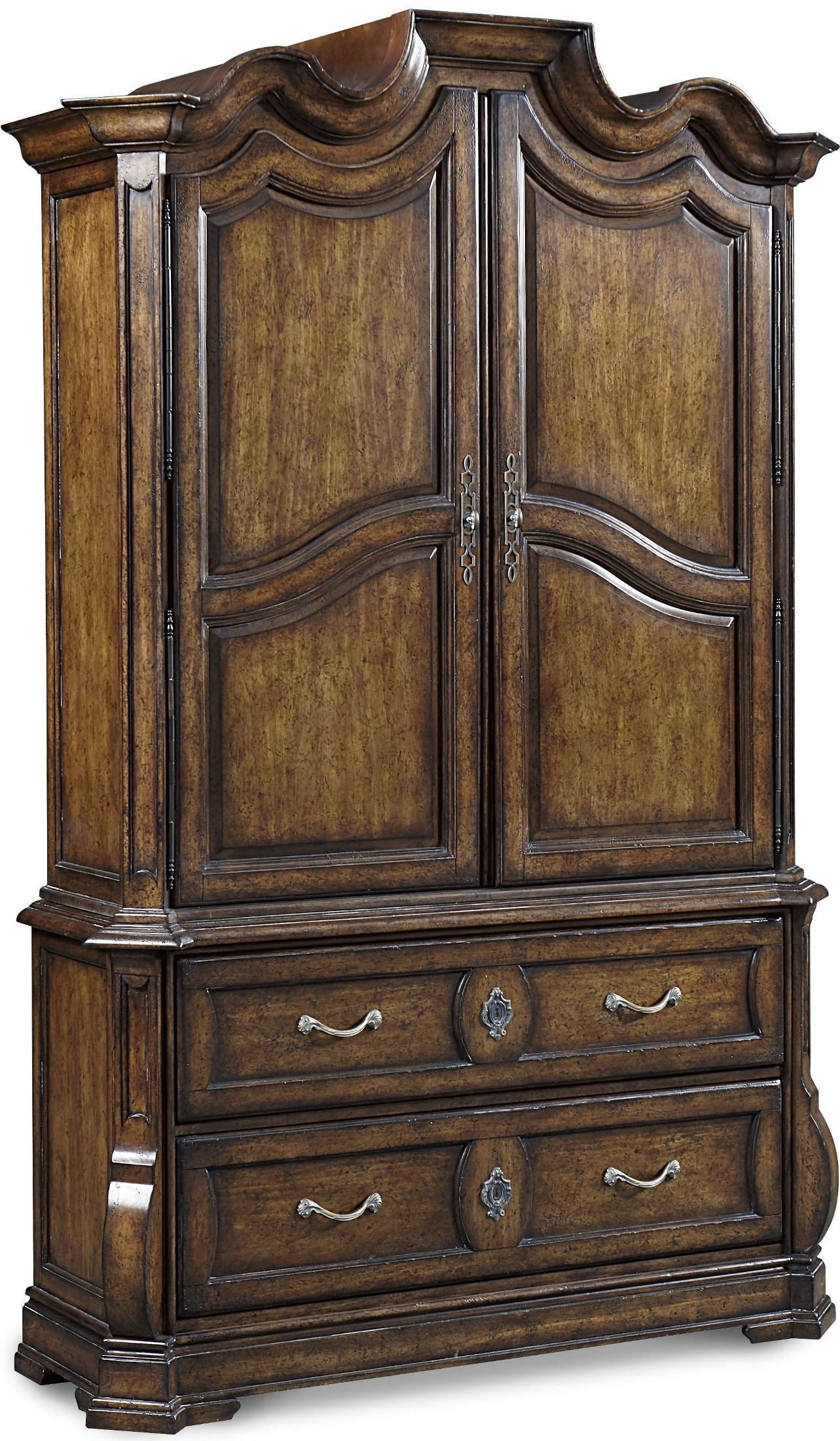 Continental weathered nutmeg armoire a r t