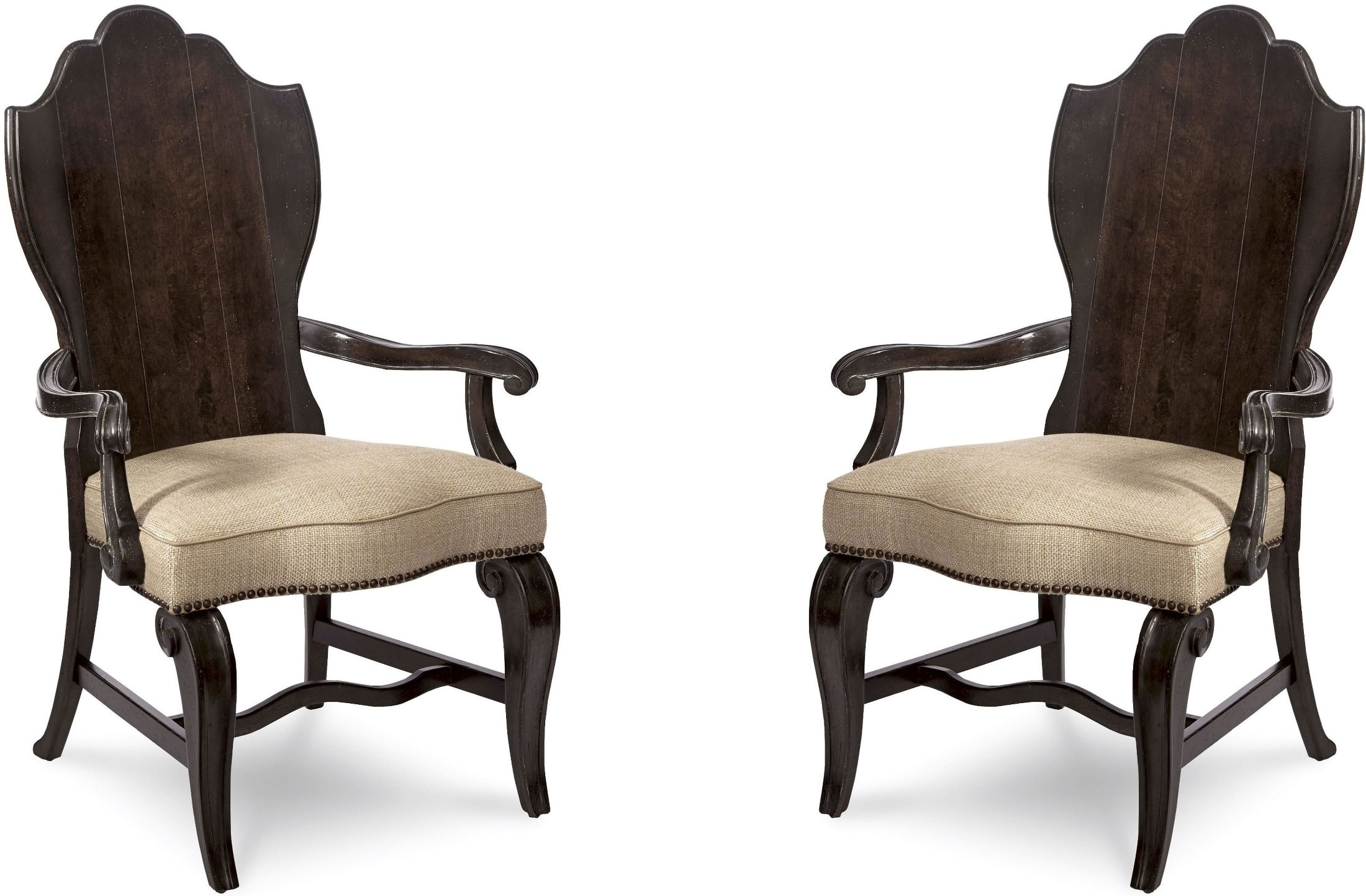 Continental Vintage Melange Wood Back Arm Chair Set Of 2 237205 2615 . Full resolution  photograph, nominally Width 2200 Height 1444 pixels, photograph with #836A48.