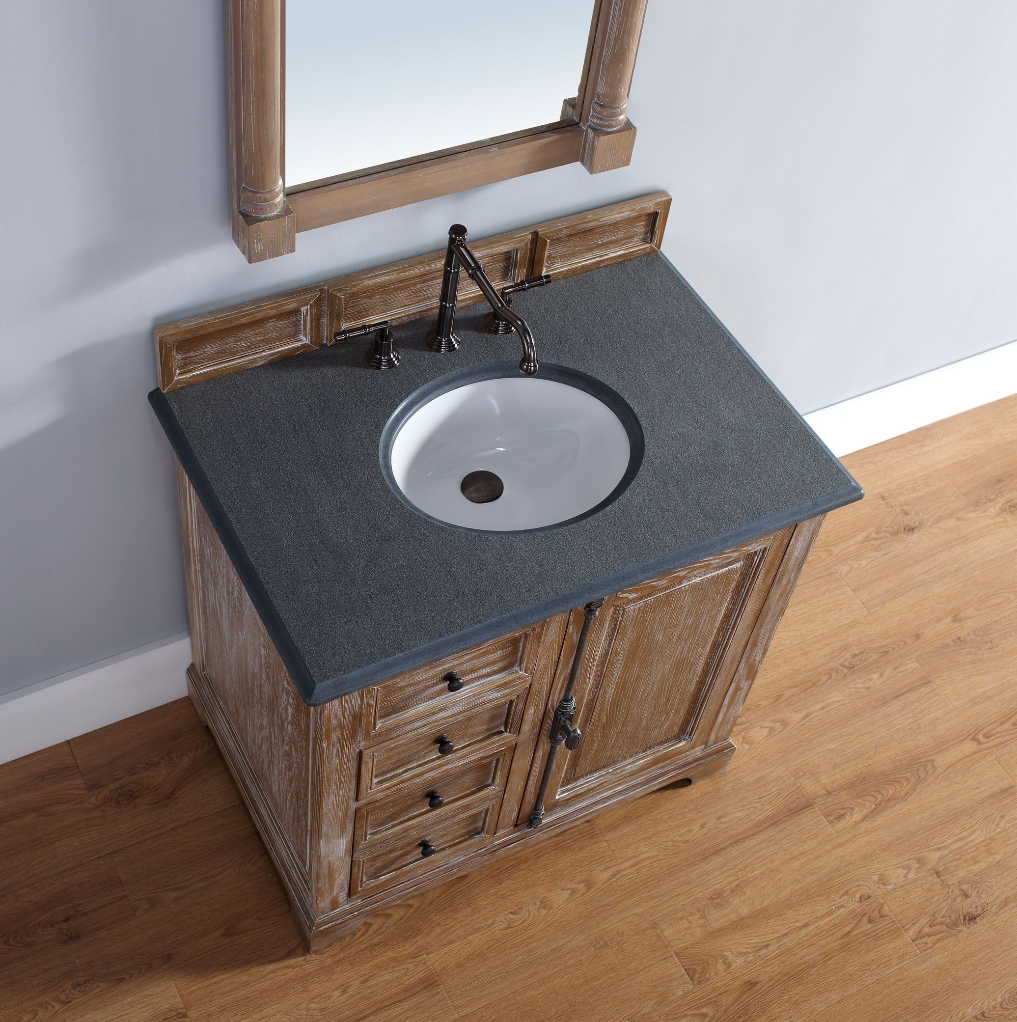 36 Providence Driftwood Black Rustic Top Vanity Cabinet With Sink From James Martin Coleman