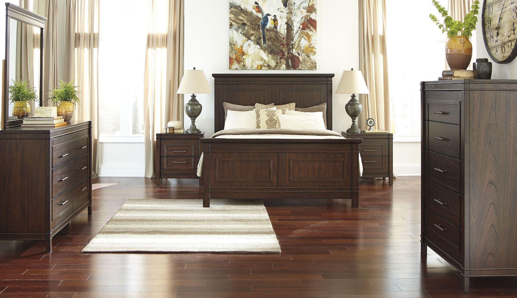 Timbol warm brown panel bedroom set from ashley b508 81 for Affordable furniture alexandria louisiana