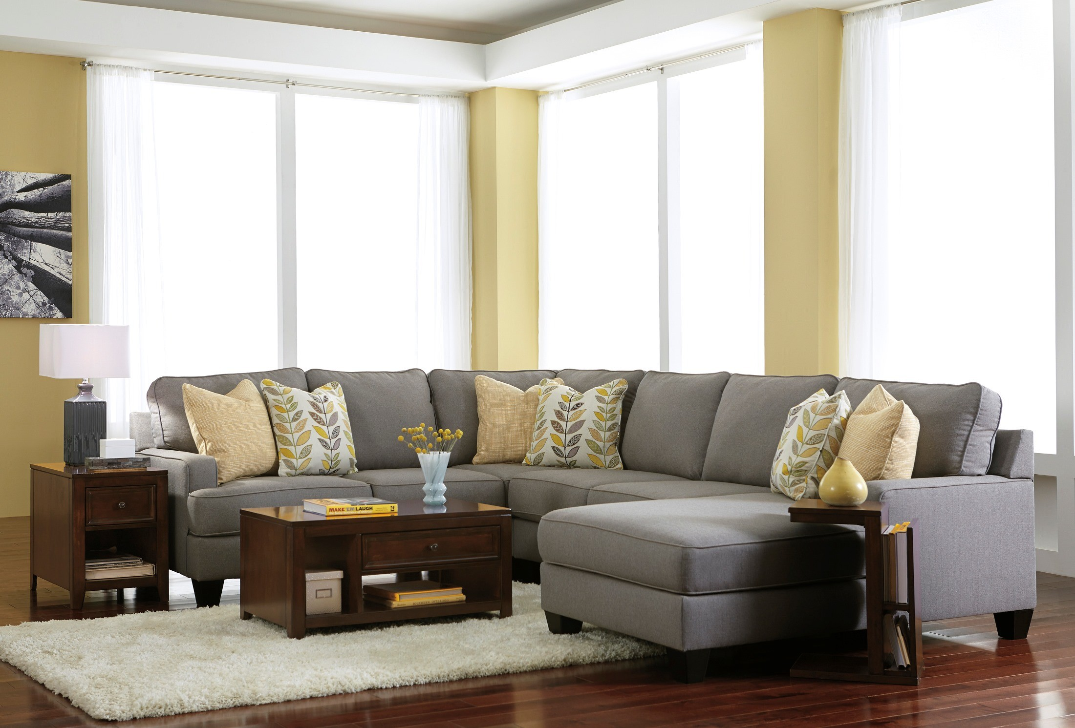Chamberly alloy raf chaise sectional from ashley 2430217 for Ashley chaise sectional
