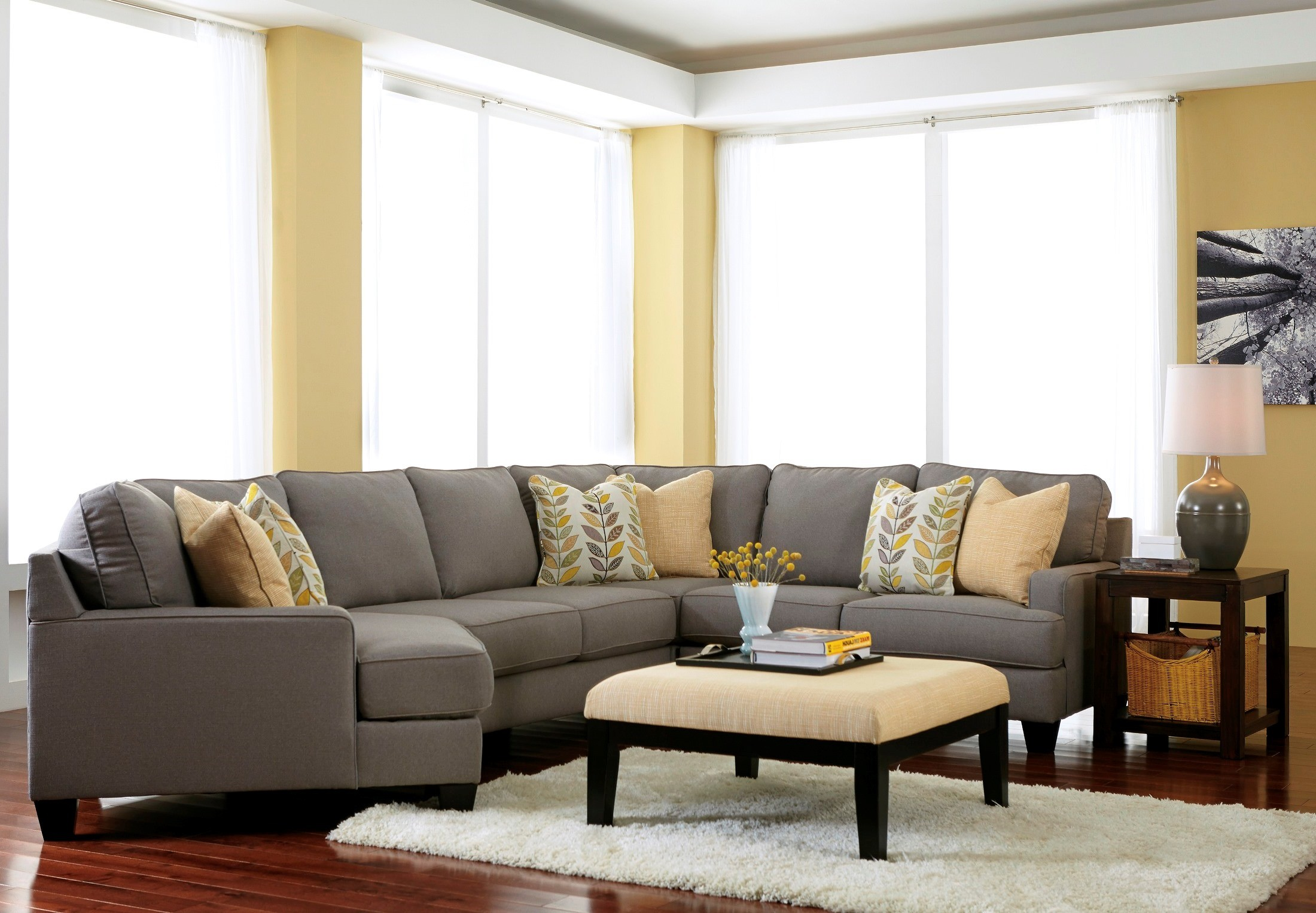 Chamberly Alloy LAF Cuddler Sectional from Ashley (2430216 ...