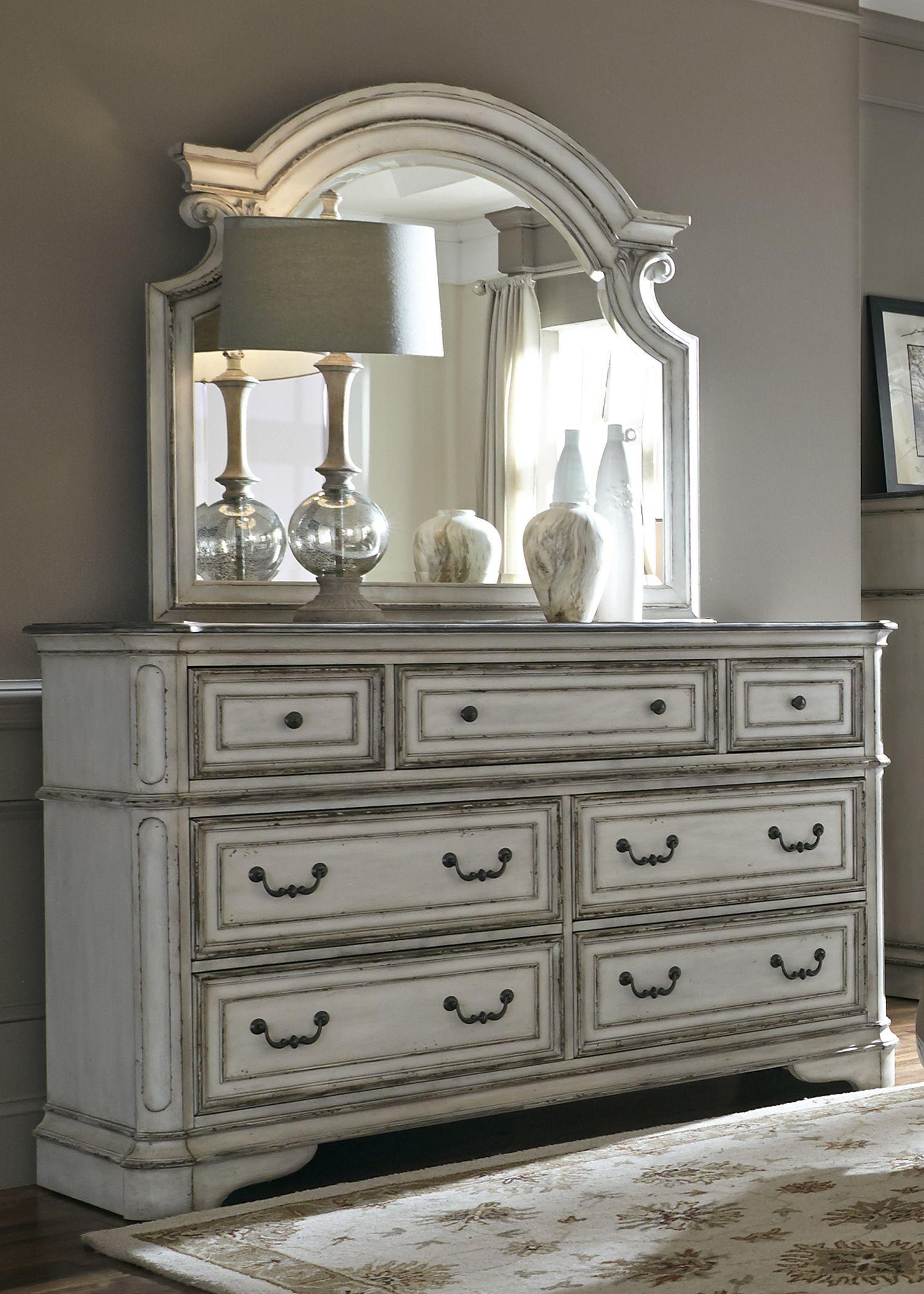 magnolia manor antique white upholstered panel bedroom set 244 br qub