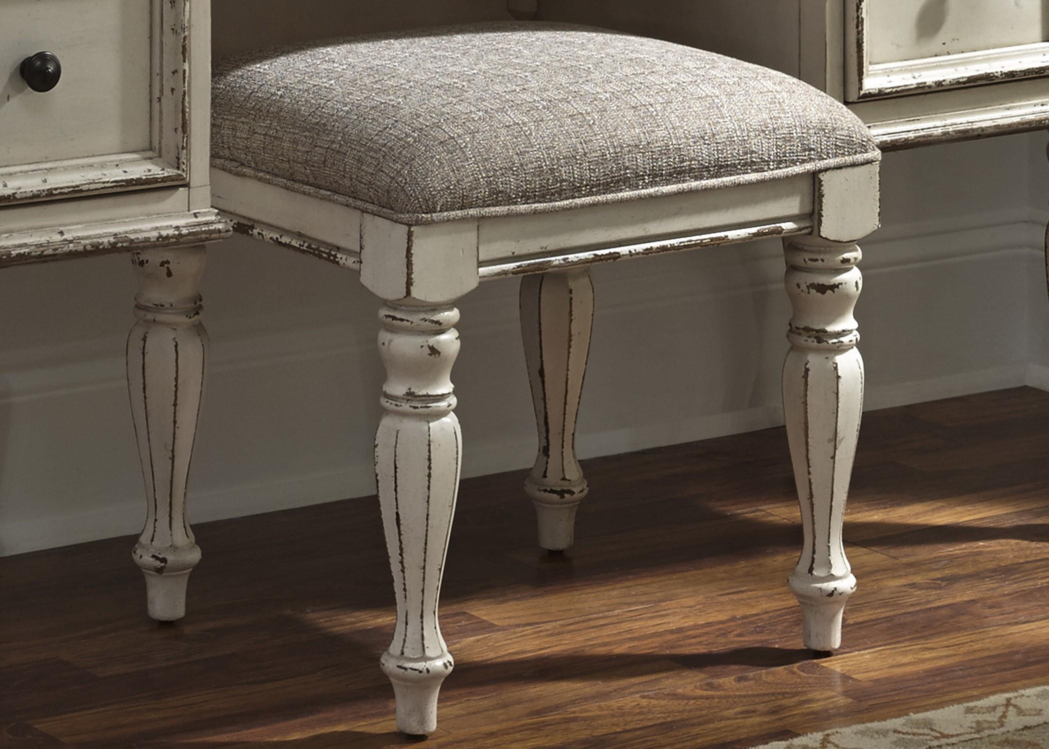 Magnolia manor antique vanity stool 244 br99 liberty - Antique vanity stools ...