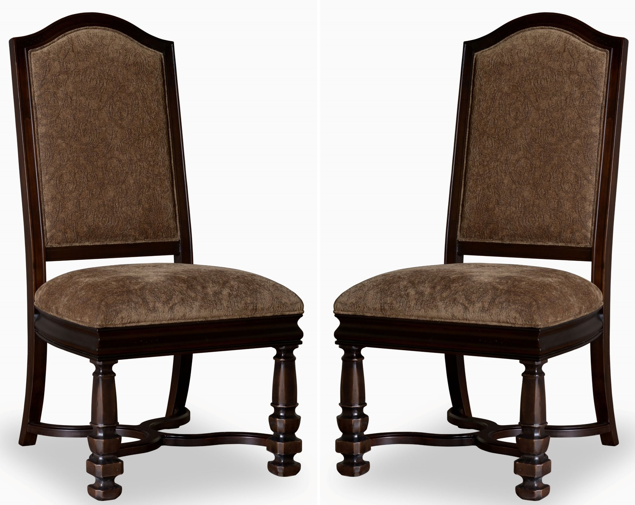 Marbella Noir Upholstered Back Side Chair 244206 2615 Art Furniture