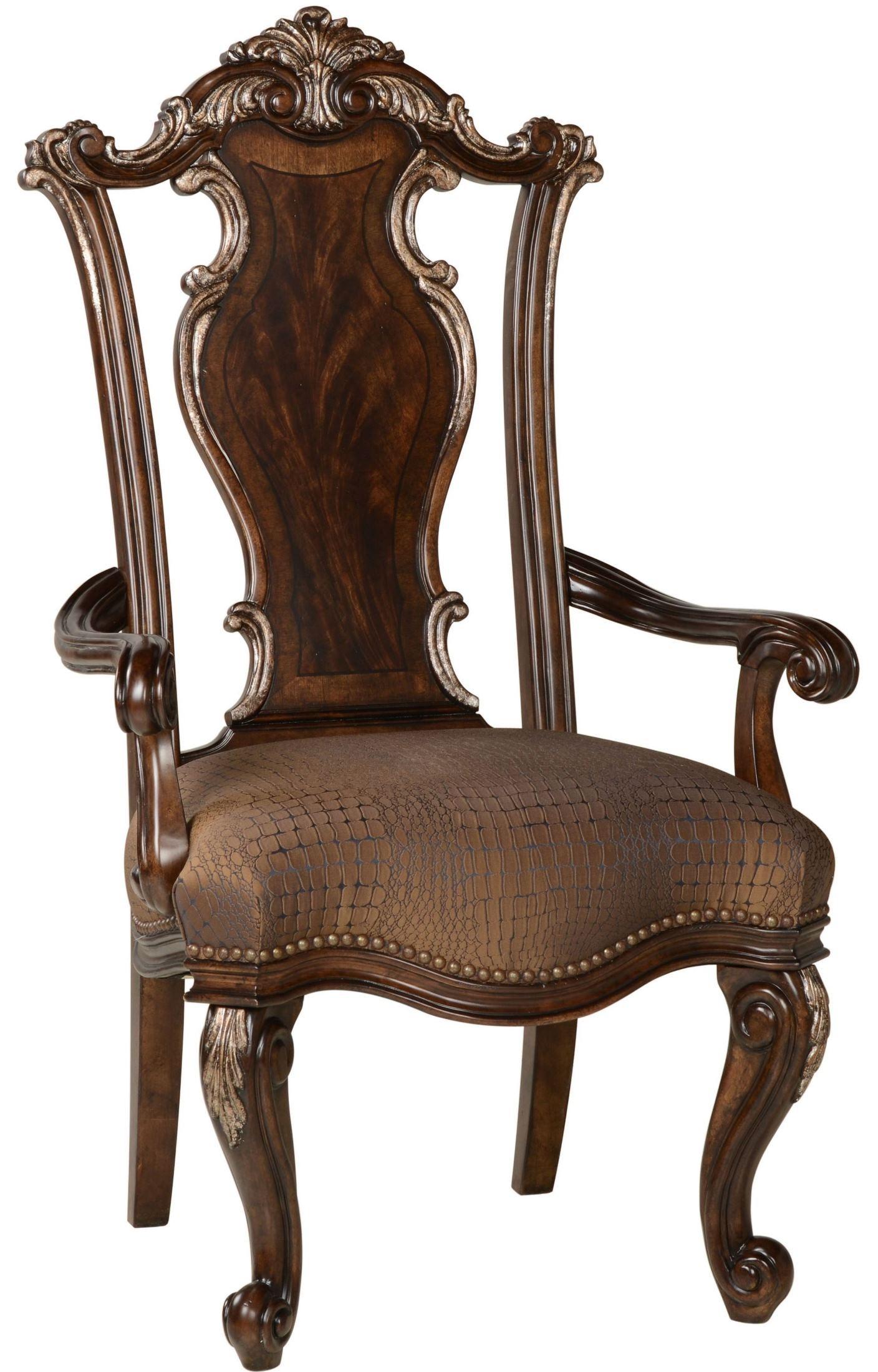 Wood Arm Art ~ Gables wood back arm chair from art