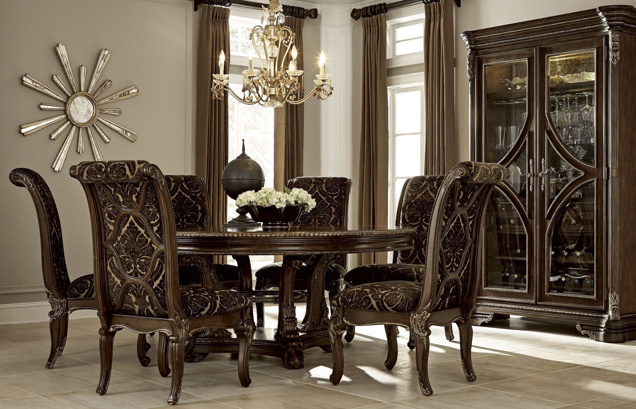 gables round dining room set from art 245225 1707