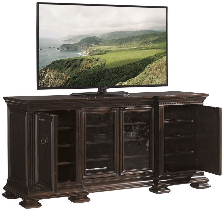 Prestonwood Rich Windsor Yorkshire Media Console From Sligh 04 248wn 661 Coleman Furniture