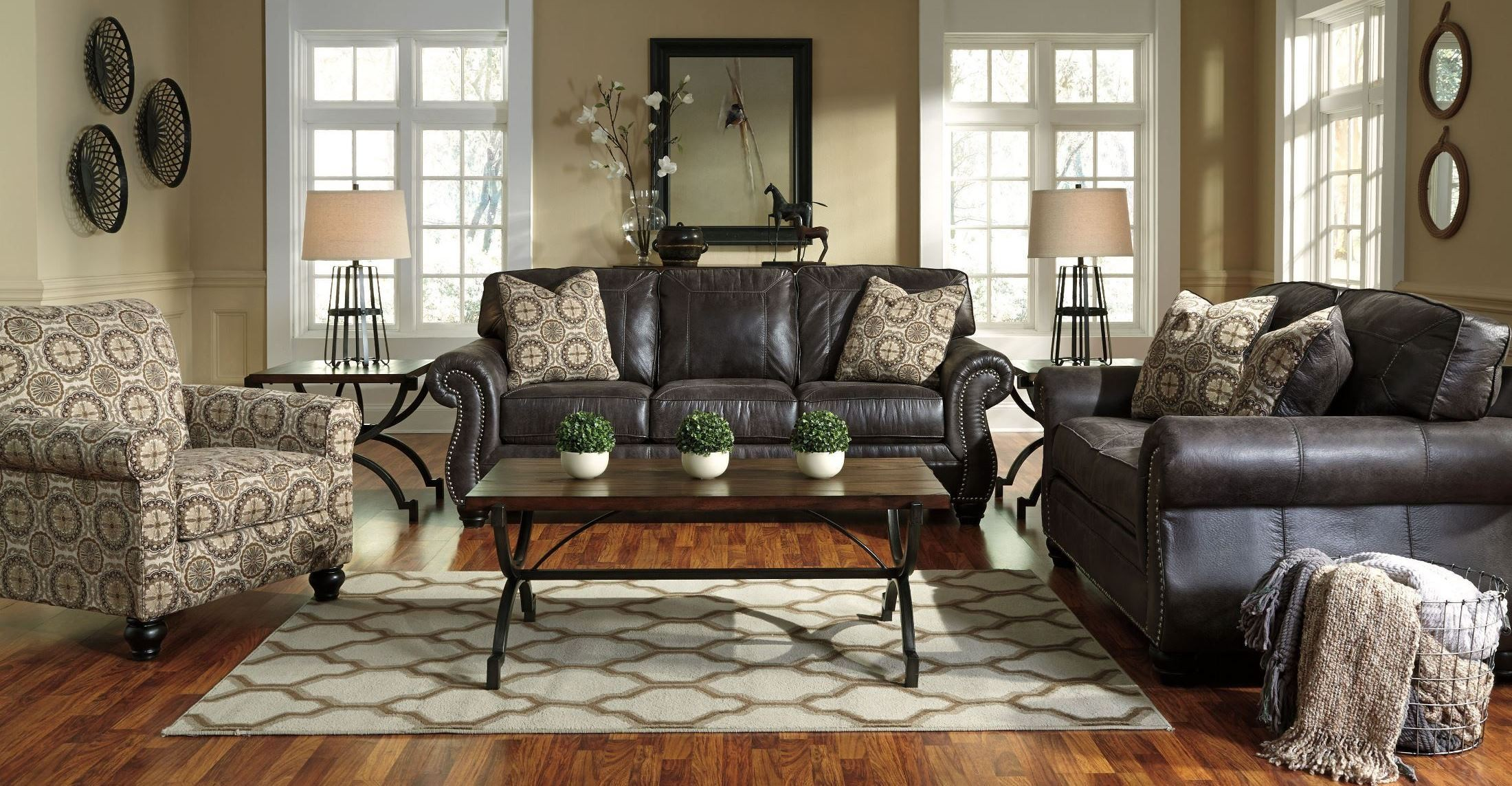 Breville charcoal living room set from ashley 80004 38 35 for Charcoal sofa living room