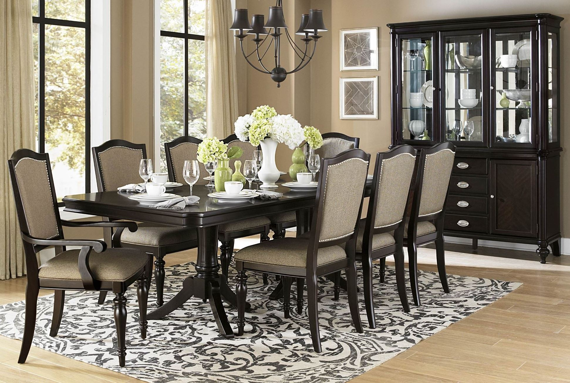 Marston Rectangular Extendable Dining Room Set From Homelegance 2615dc 96 Coleman Furniture