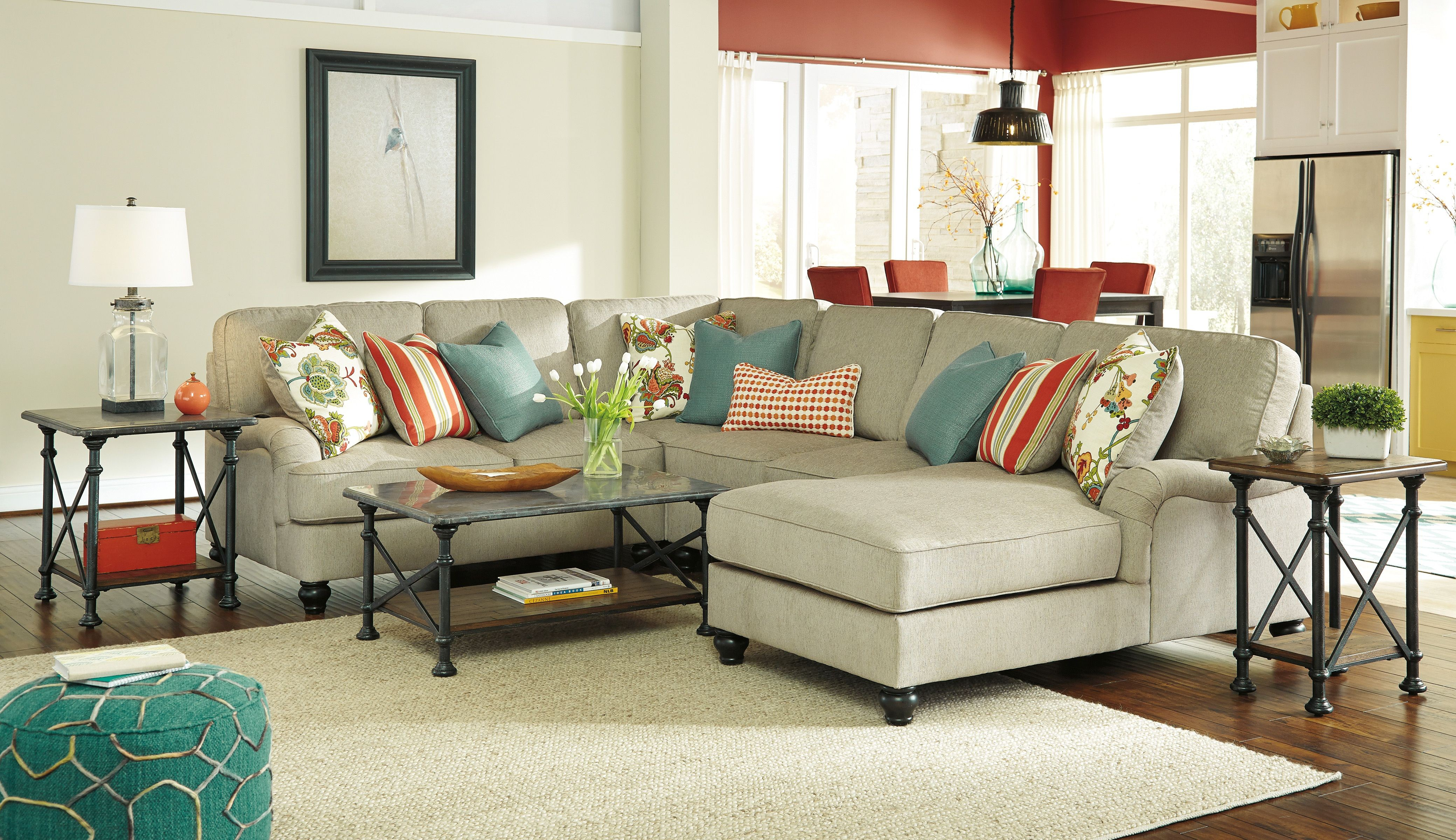 kerridon putty raf chaise sectional from ashley 26300 17
