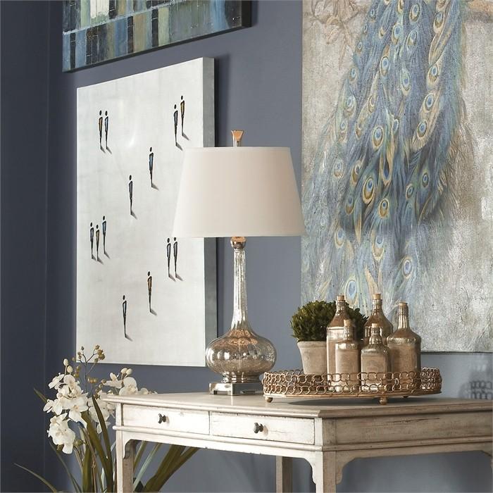 Oristano Mercury Glass Lamp From Uttermost 26494 Coleman Furniture