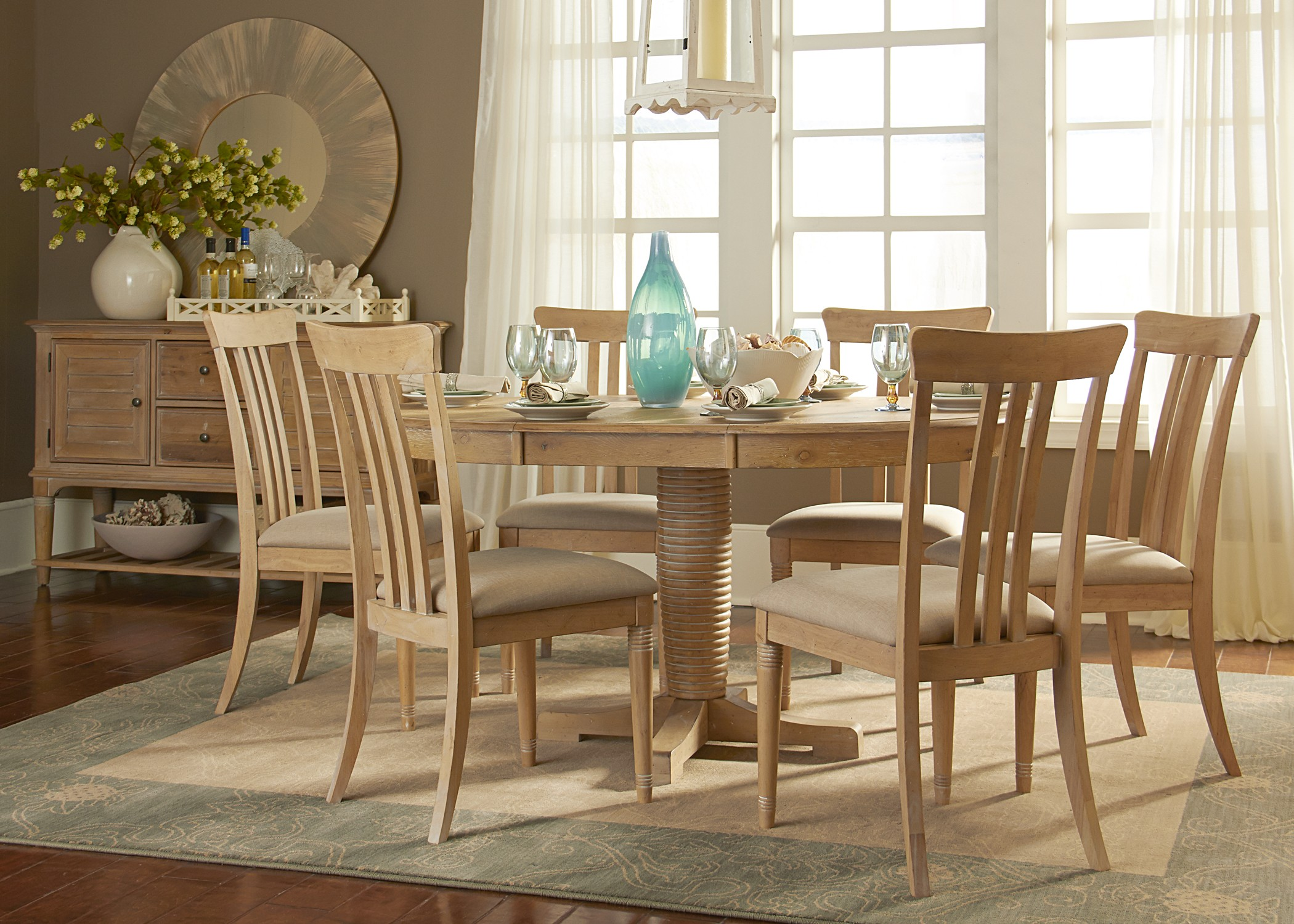Bluff Cove Oval Dining Room Set 268 T4260 P4260 Liberty Furniture