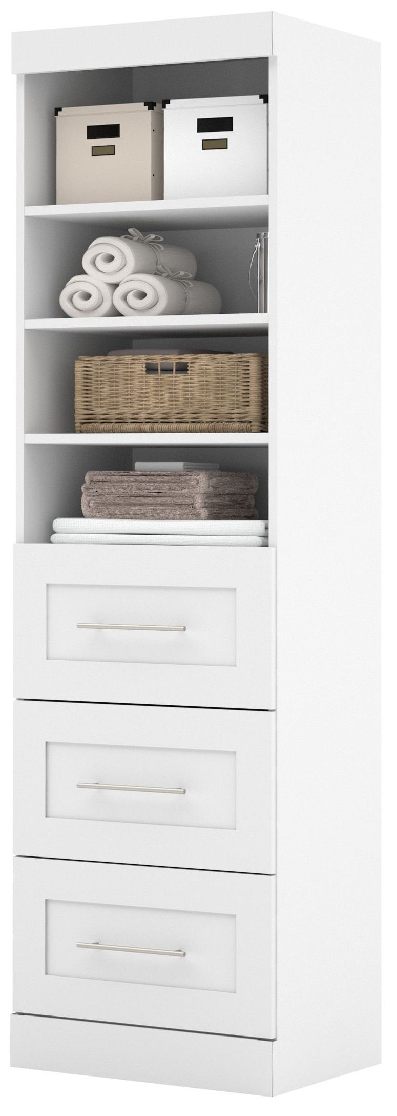 26871 pure white 25 3 drawer storage unit from bestar 26871 17 coleman furniture. Black Bedroom Furniture Sets. Home Design Ideas