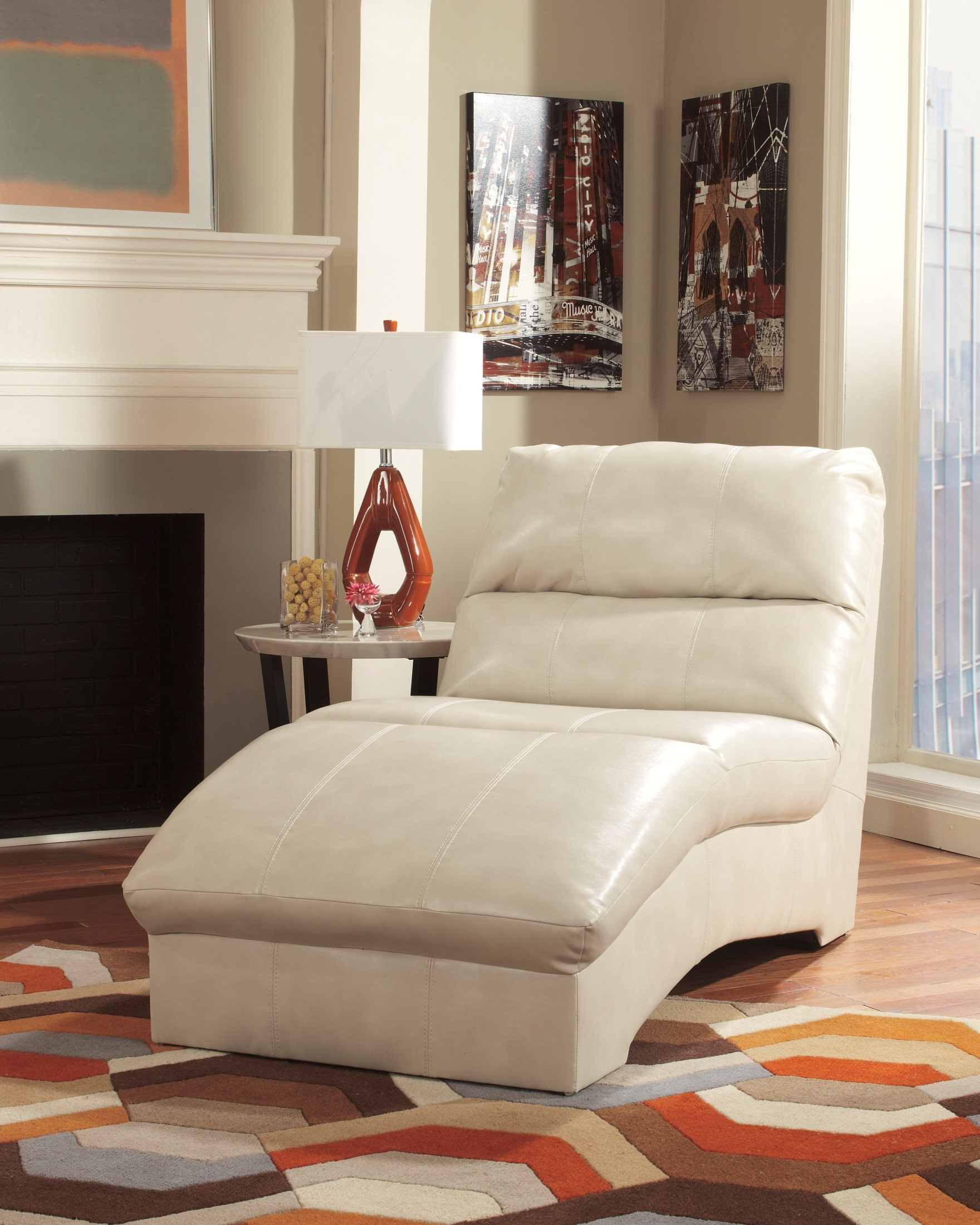Paulie durablend taupe chaise from ashley 2700015 for Ashley durablend chaise