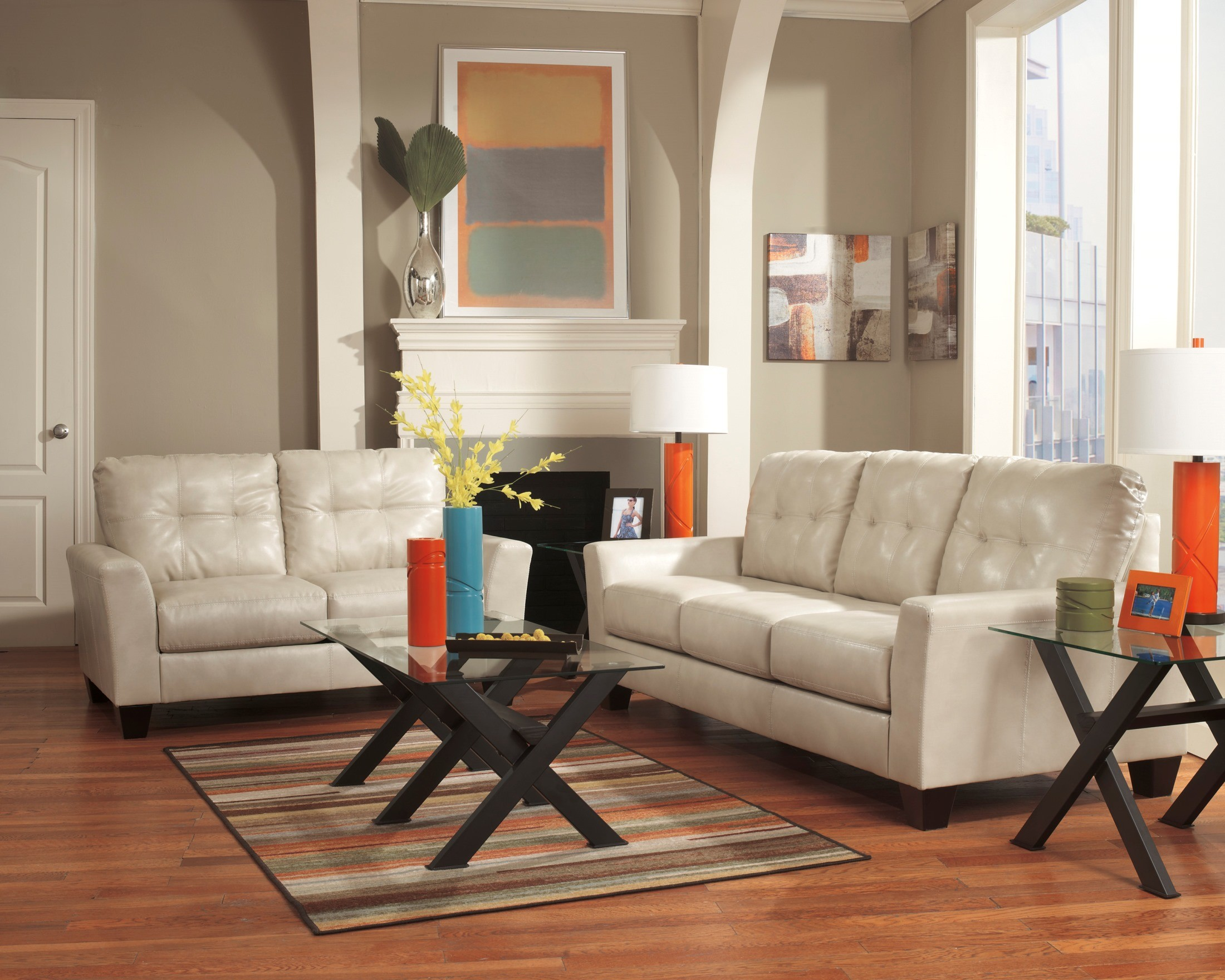 Paulie durablend taupe living room set from ashley 27000 for Front room sets