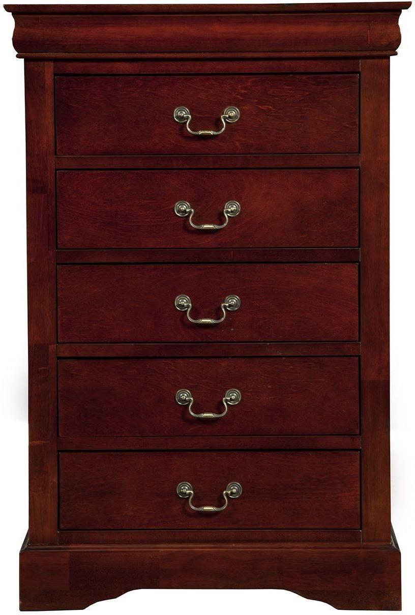 Louis Philippe Ii Cherry Sleigh Bedroom Set 2700q Alpine