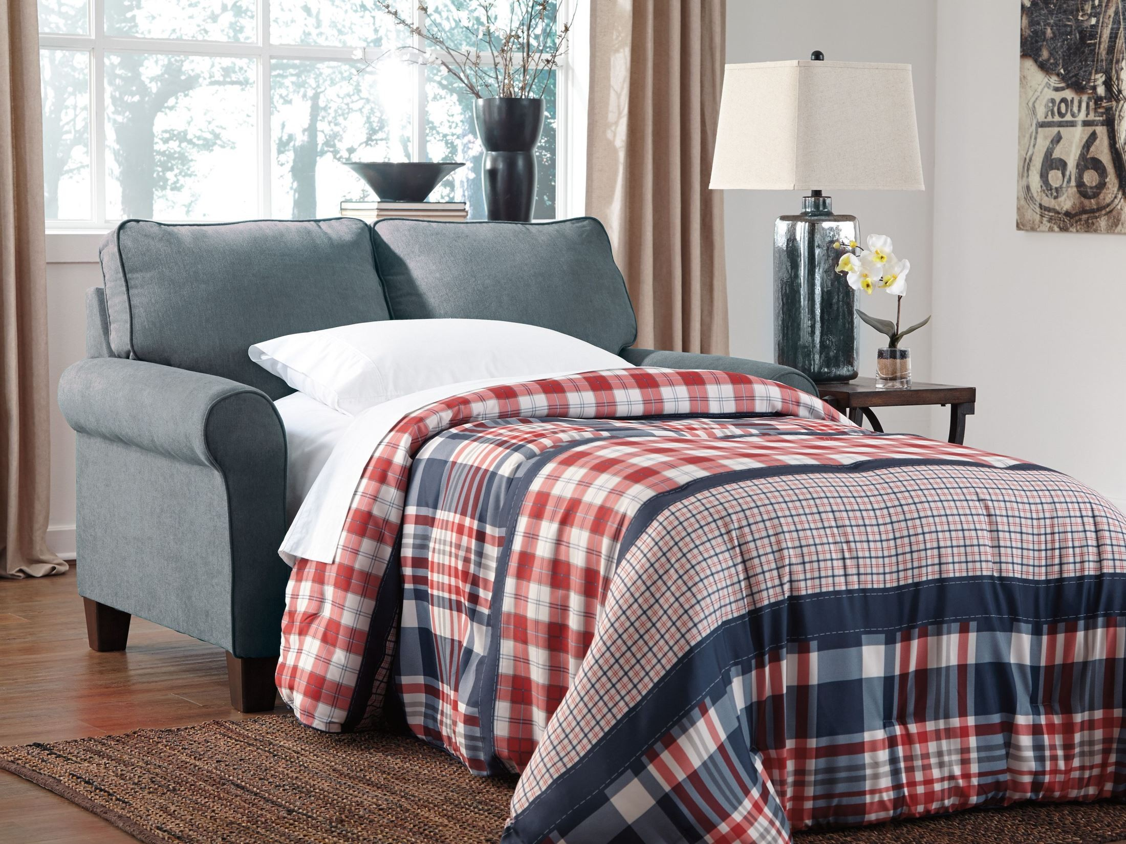 zeth denim twin sofa sleeper from ashley 2710137 coleman furniture. Black Bedroom Furniture Sets. Home Design Ideas