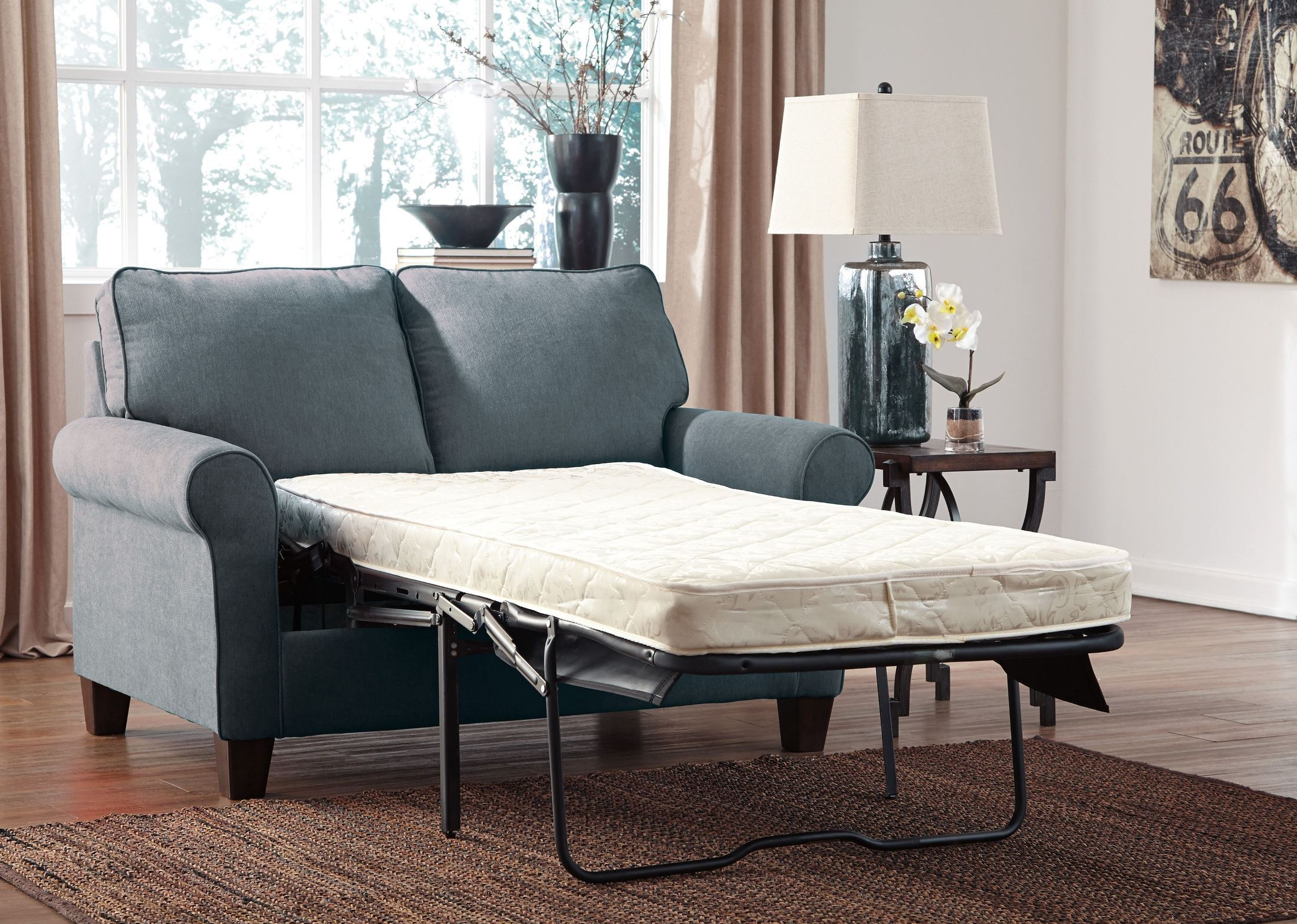 Zeth Denim Twin Sofa Sleeper from Ashley 2710137  : 27101 37 open from colemanfurniture.com size 2200 x 1567 jpeg 792kB